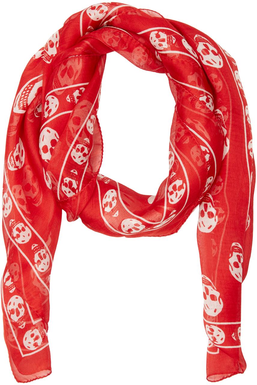 Mcqueen Alexander scarf red