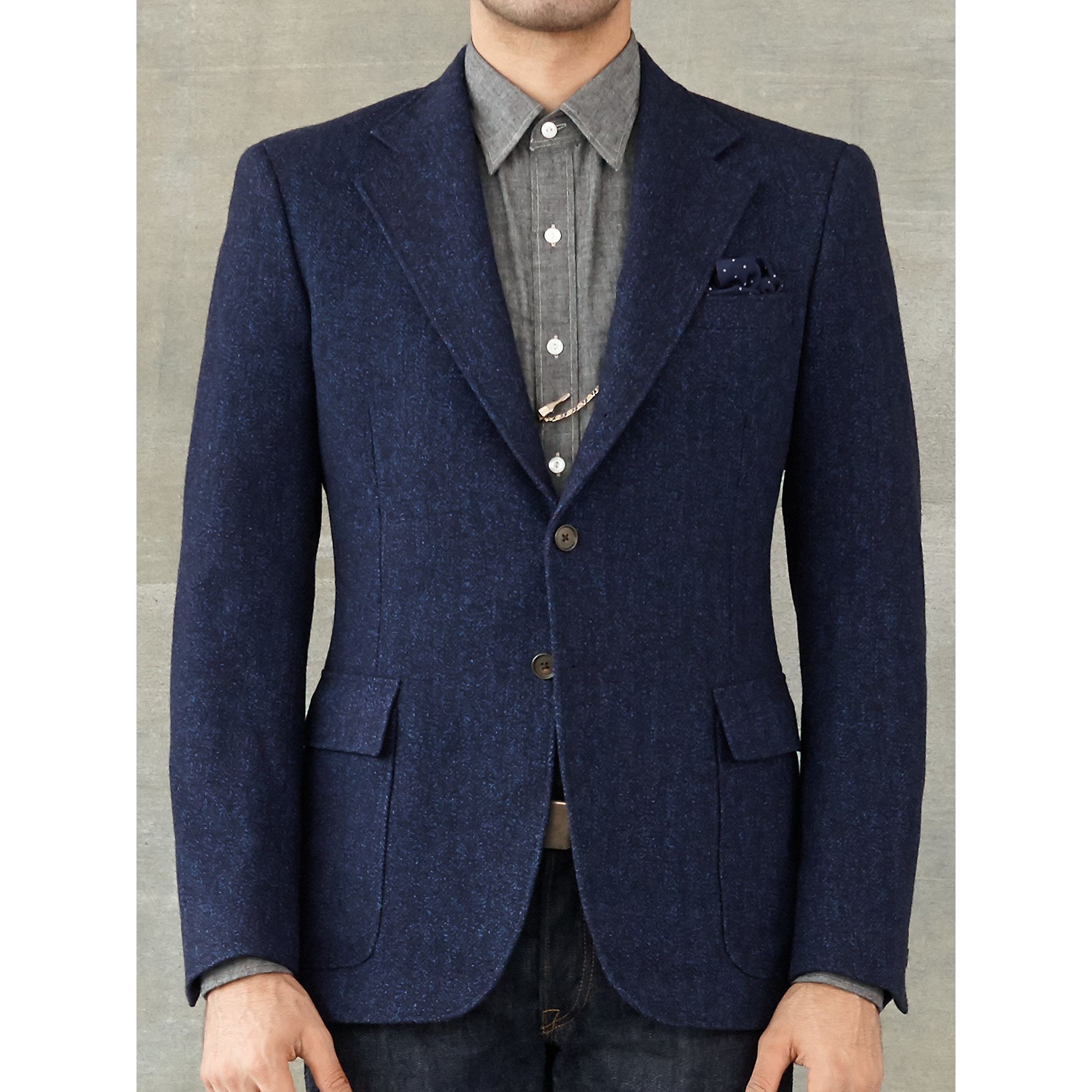 Rrl Cotton Wool Sport Coat In Blue For Men Lyst