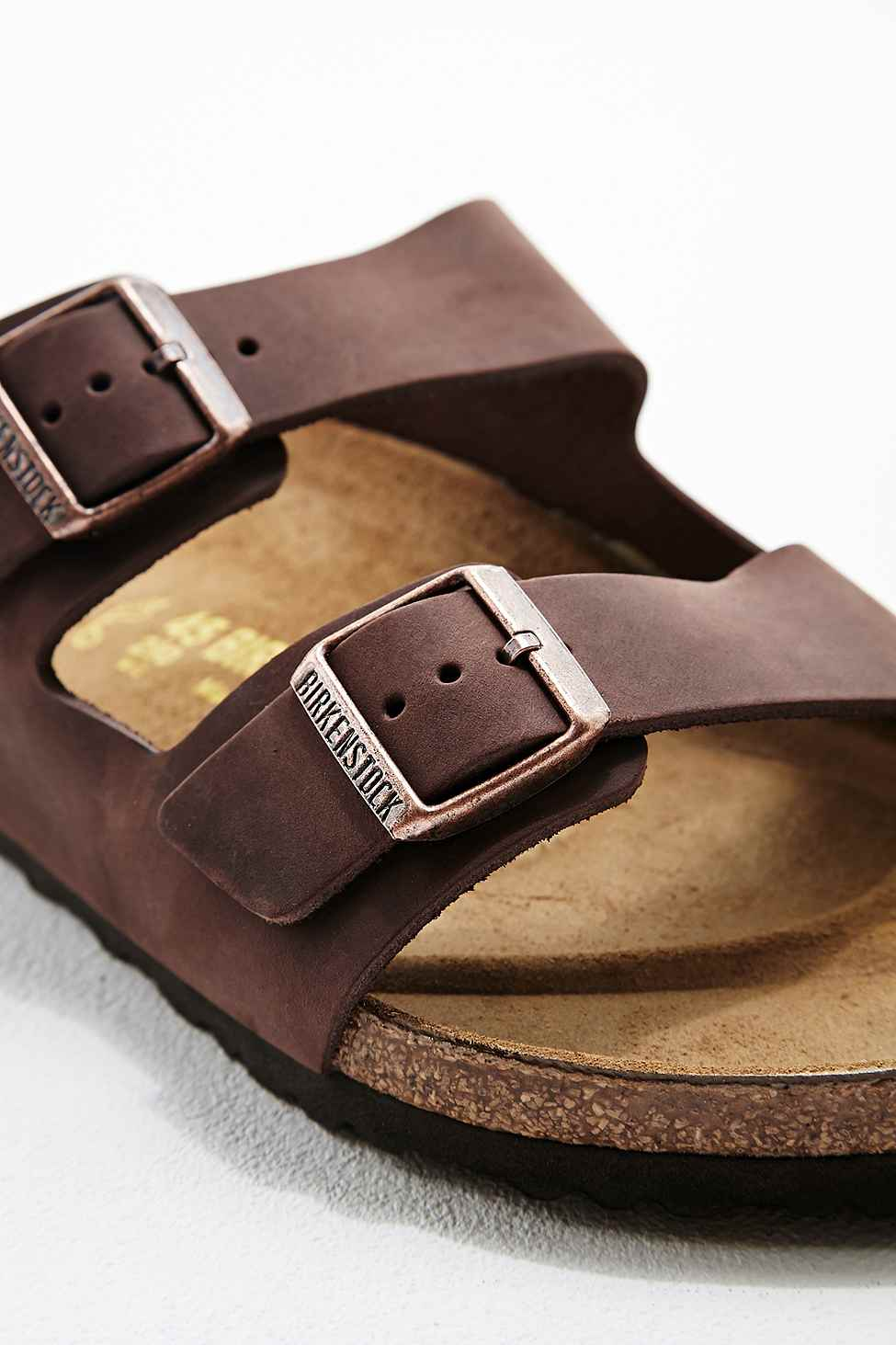 ed0de51ce07 Birkenstock Arizona Habana Oiled Leather Sandals in Chocolate in ...