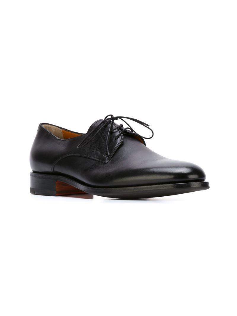 classic Oxford shoes - Black Santoni AZ4hzY7Mx3