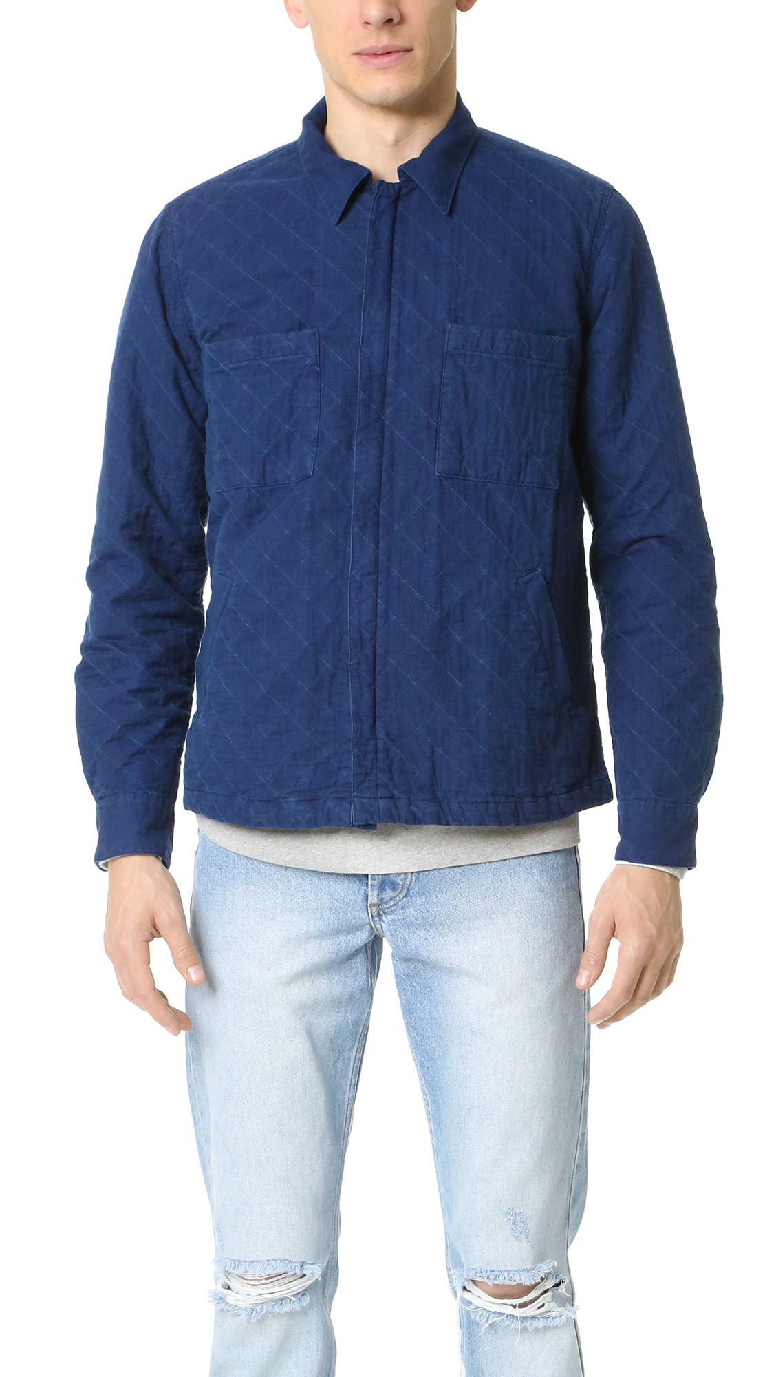 Gant rugger Indigo Twill Shirt Jacket in Blue for Men | Lyst