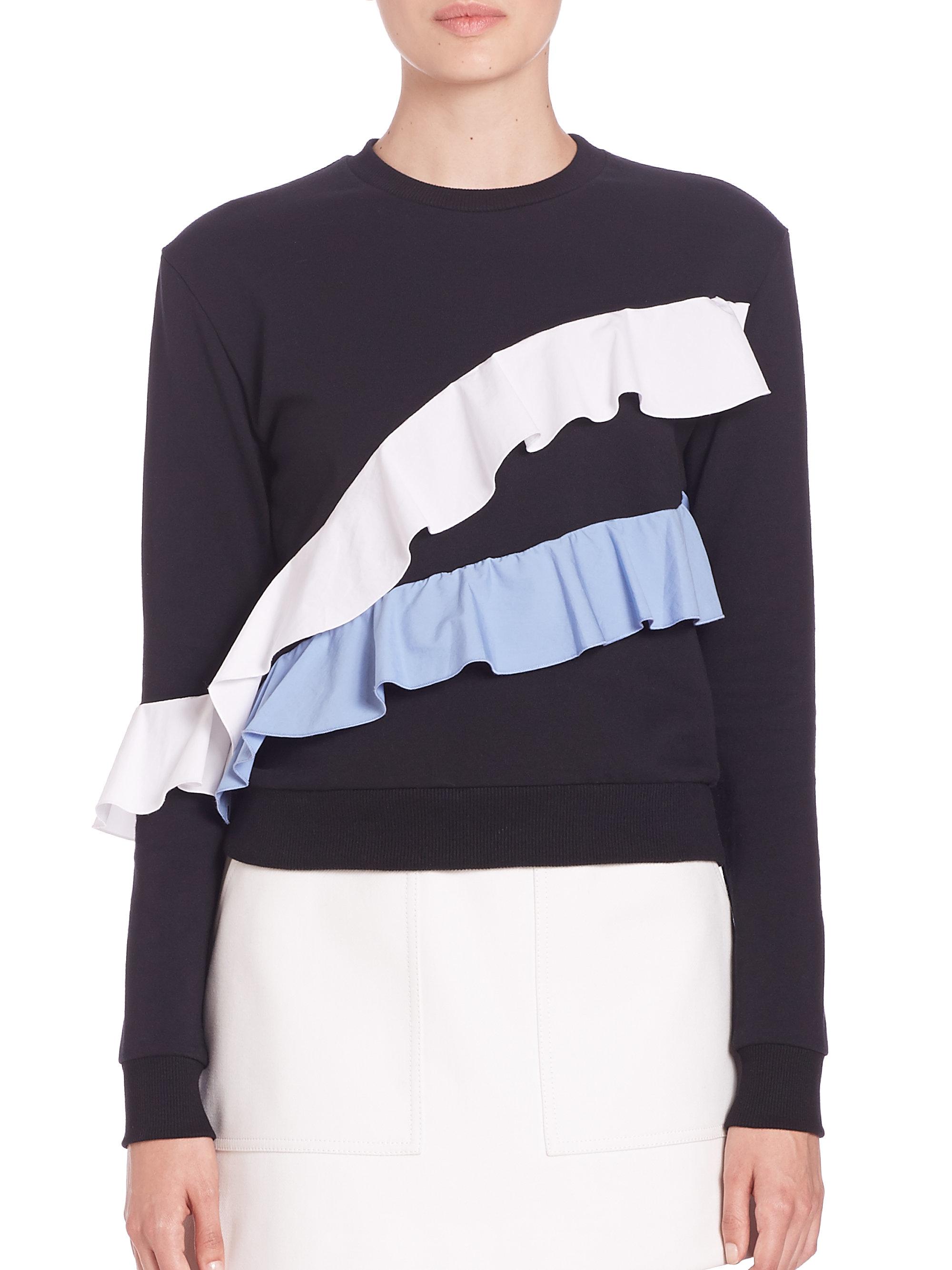 0471ea8658 Lyst - MSGM Ruffle Sweatshirt