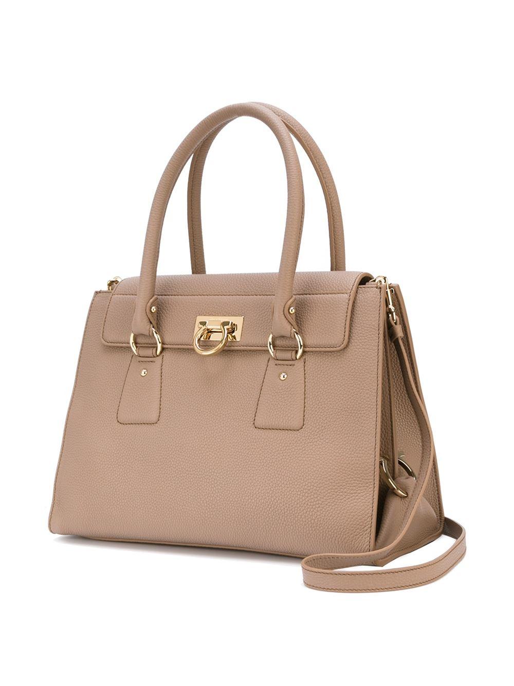 cc34dfe8aa13 Lyst - Ferragamo Lotty Bag in Natural