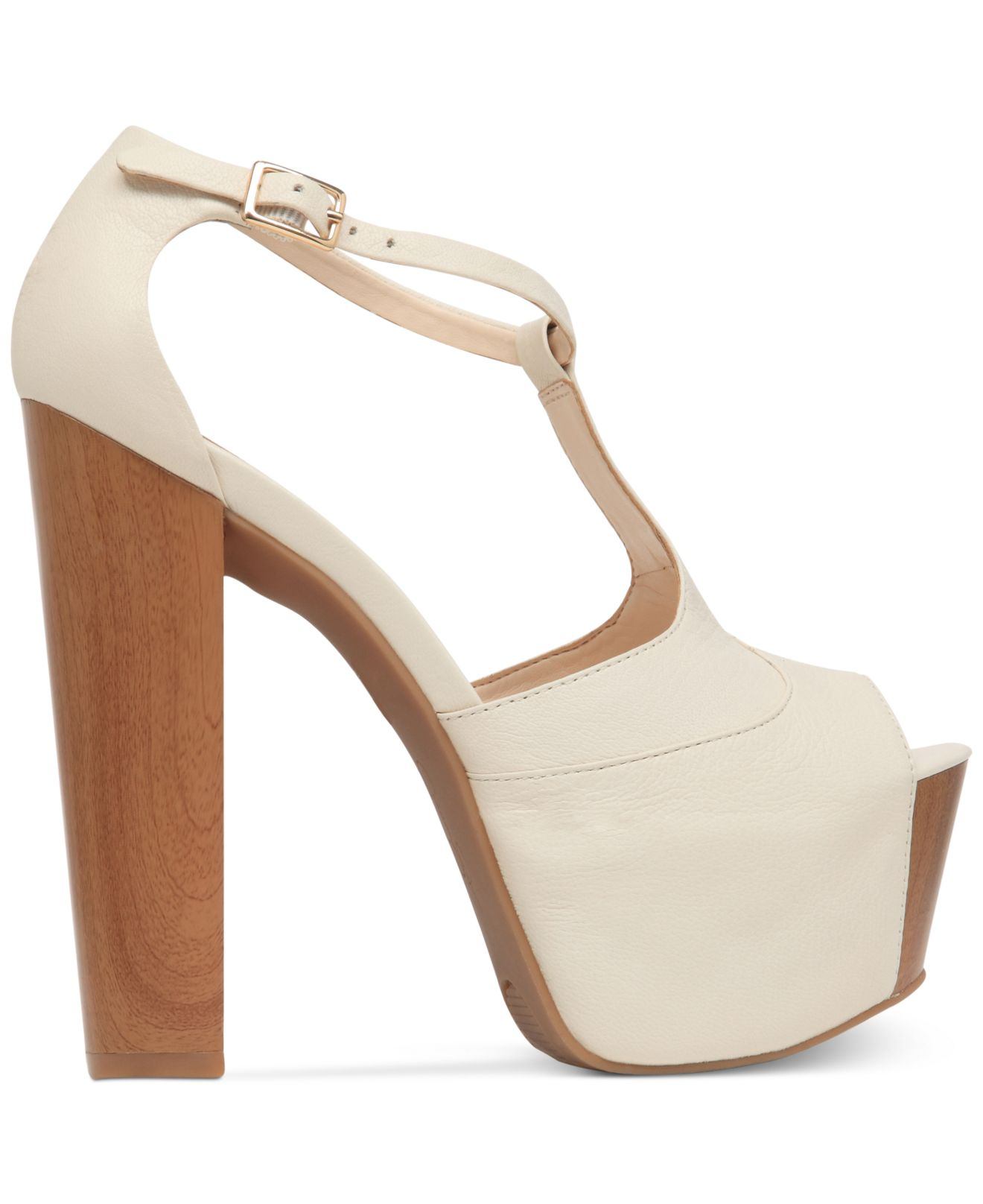 66c75c9aced Lyst - Jessica Simpson Dany T-Strap Platform Sandals in White