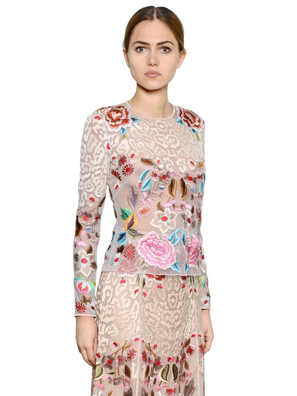 Elizabeth Embroidered Mesh Bodysuit Gallery