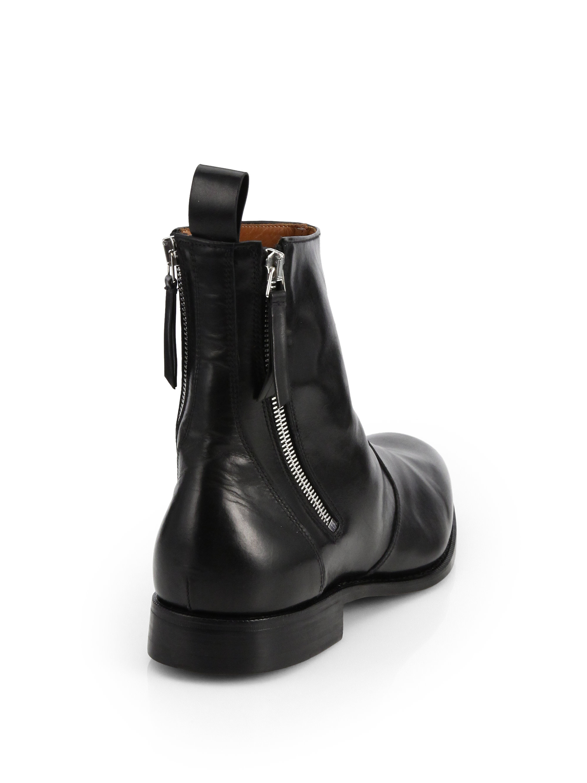 Lyst Givenchy Leather Tuxedo Boots In Black For Men
