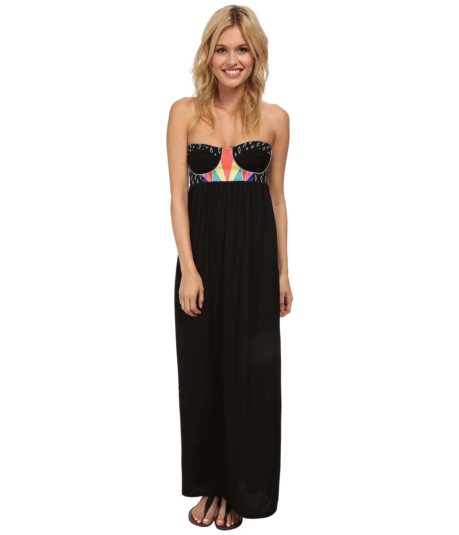Rip curl Bonita Maxi Dress in Black | Lyst