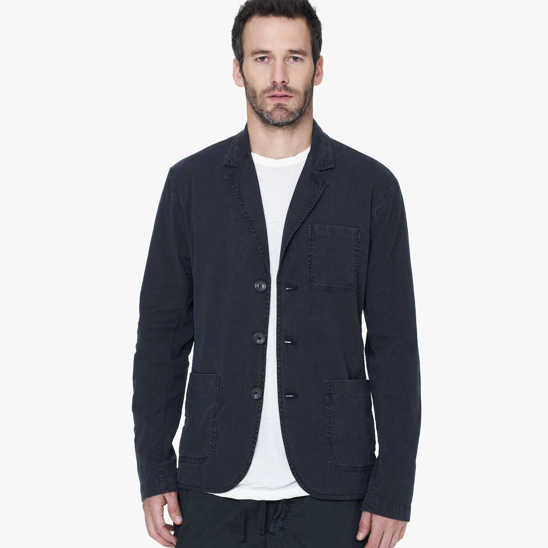 James perse Cotton Linen Blazer in Blue for Men | Lyst