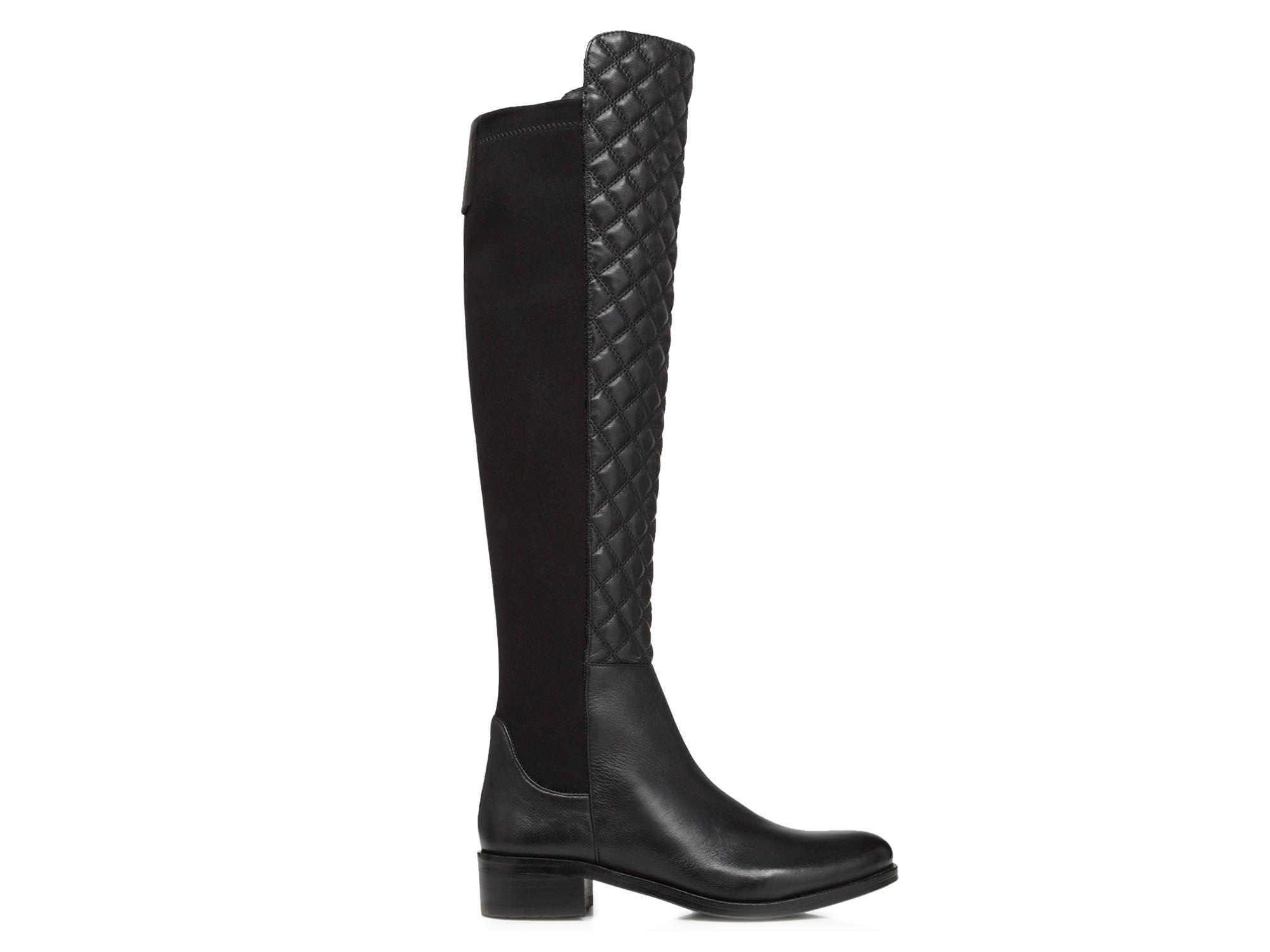 Vince camuto Justina Quilted Stretch Back High Shaft Boots in ... : quilted back boots - Adamdwight.com