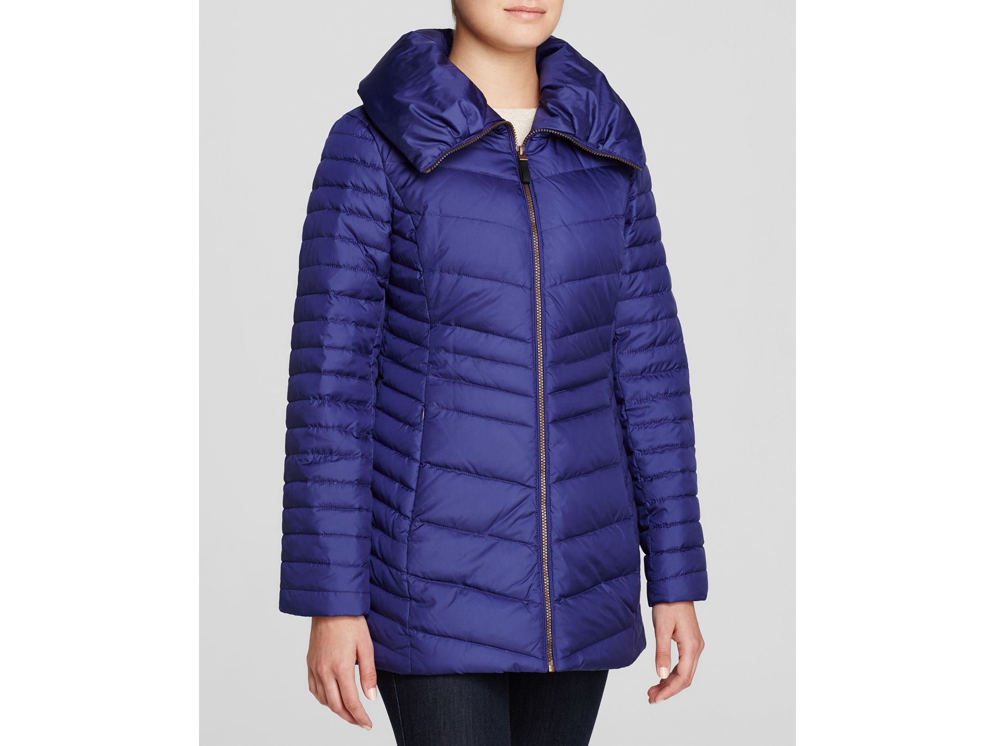 Lyst Marc New York Kirby Pillow Collar Puffer Coat In Purple