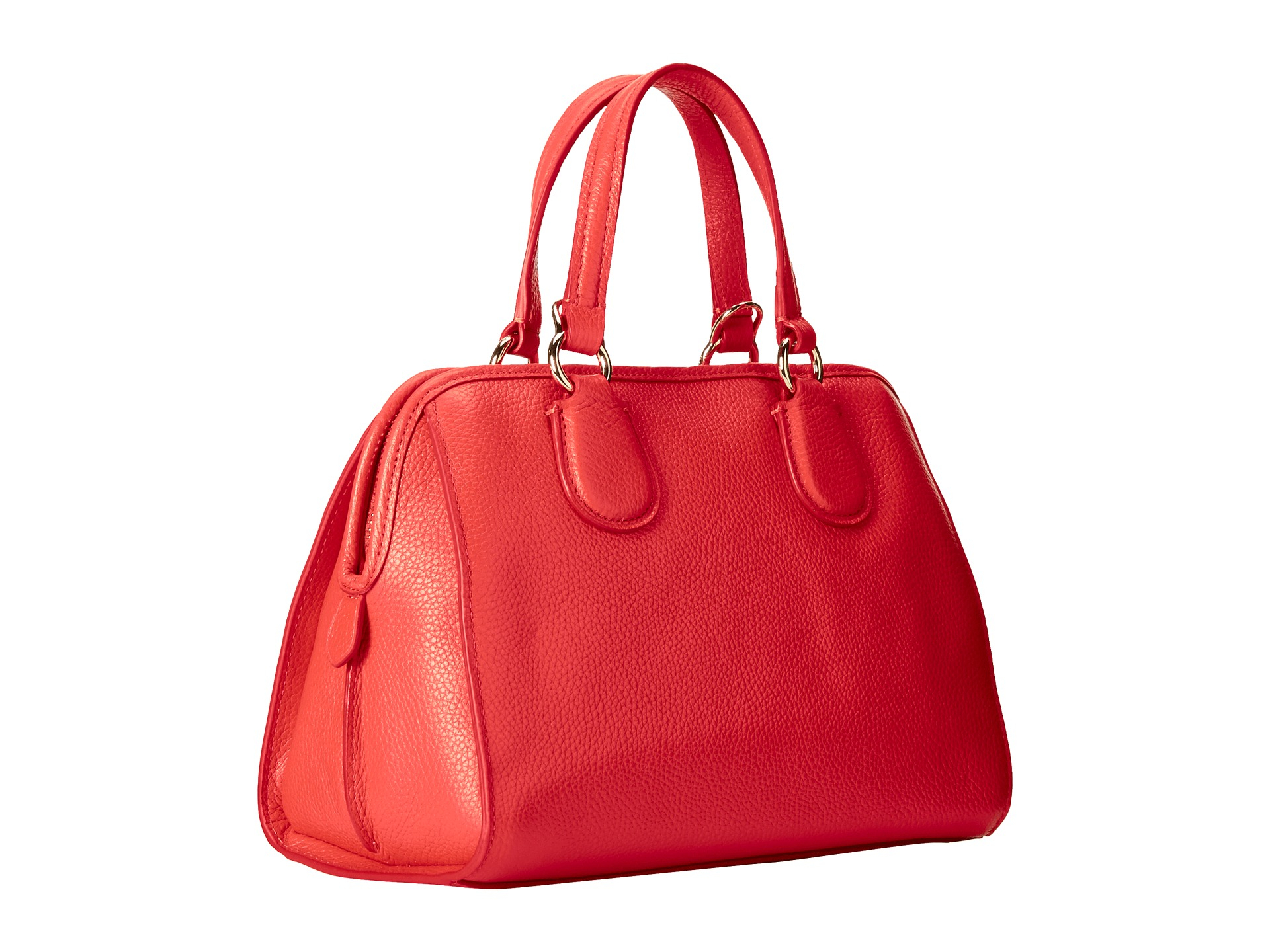 feb62be01f Lyst - COACH Refined Grain Leather Mini Nolita Satchel in Red