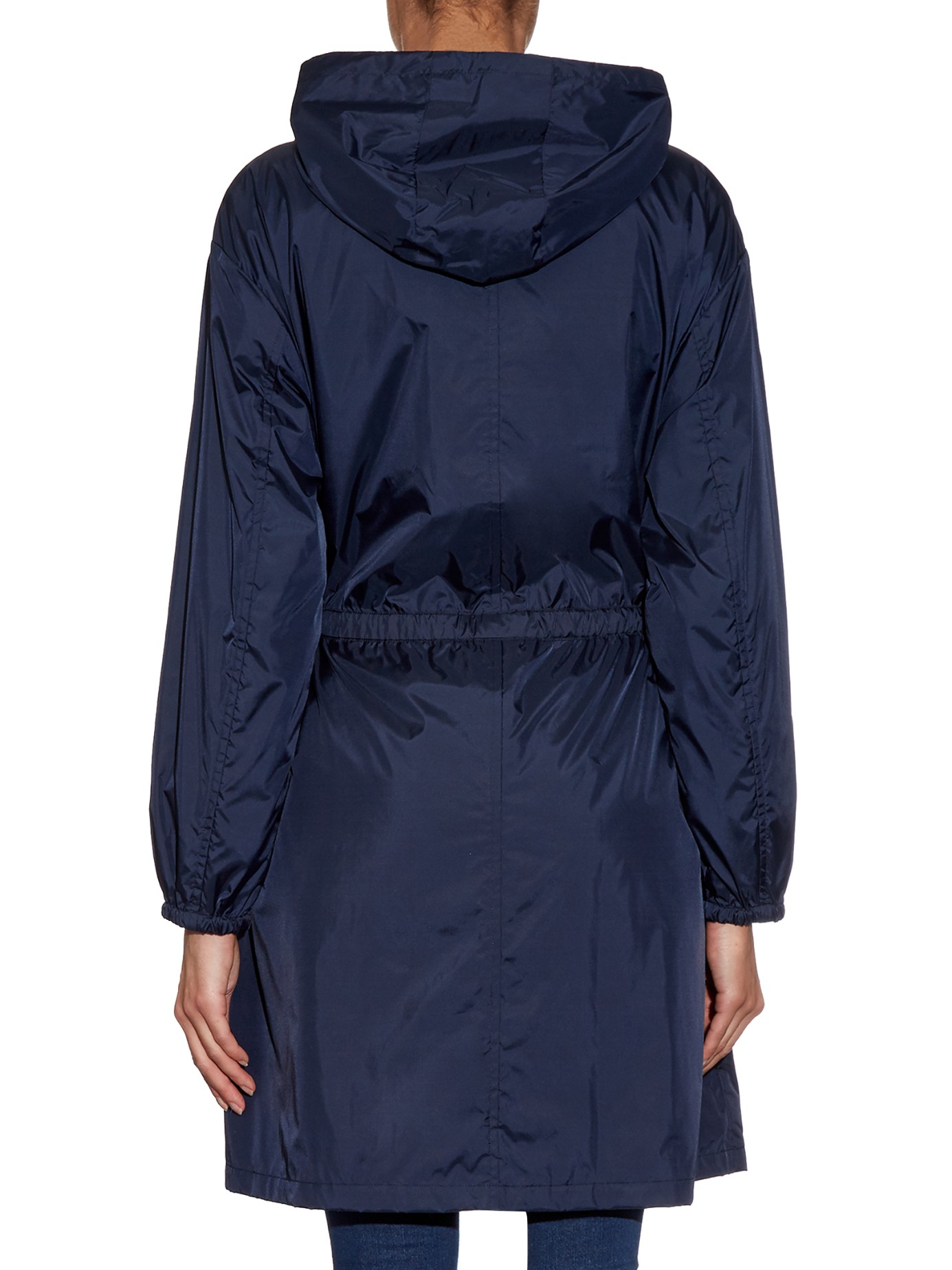 Lyst S Max Mara Parka Raincoat In Blue
