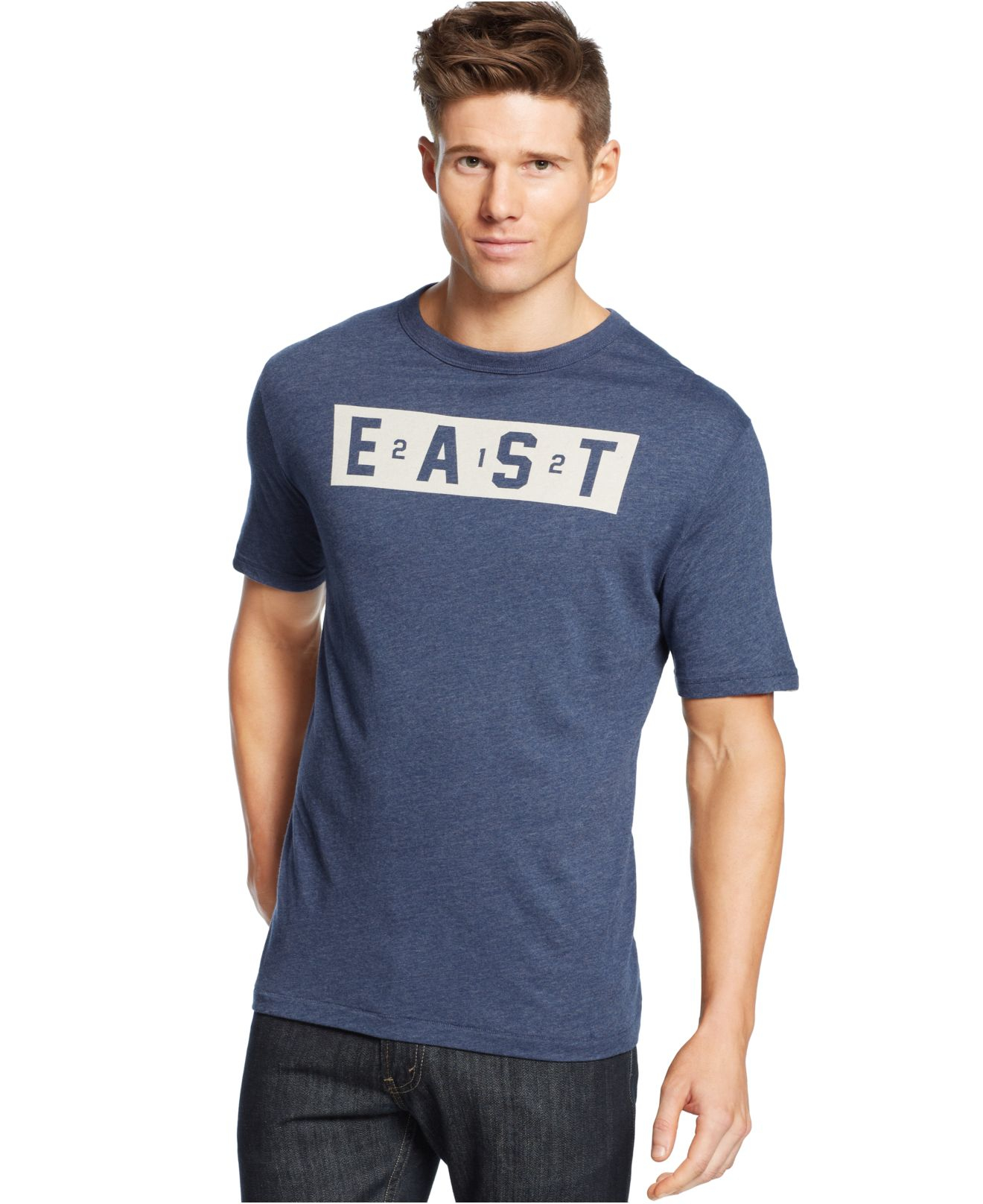 Under Armour East Graphic T Shirt In Blue For Men Lyst