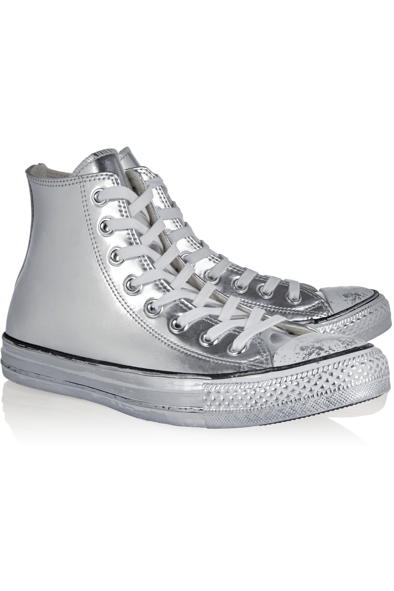 ee9b353e9a7775 Converse Chuck Taylor All Star Chrome Metallic Leather High-top ...