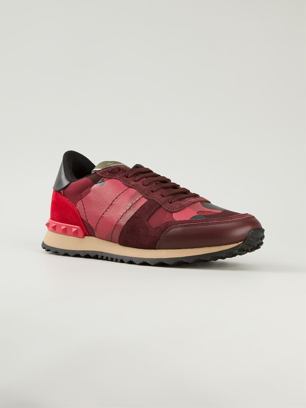 Lyst Valentino Rockrunner Sneakers In Red For Men