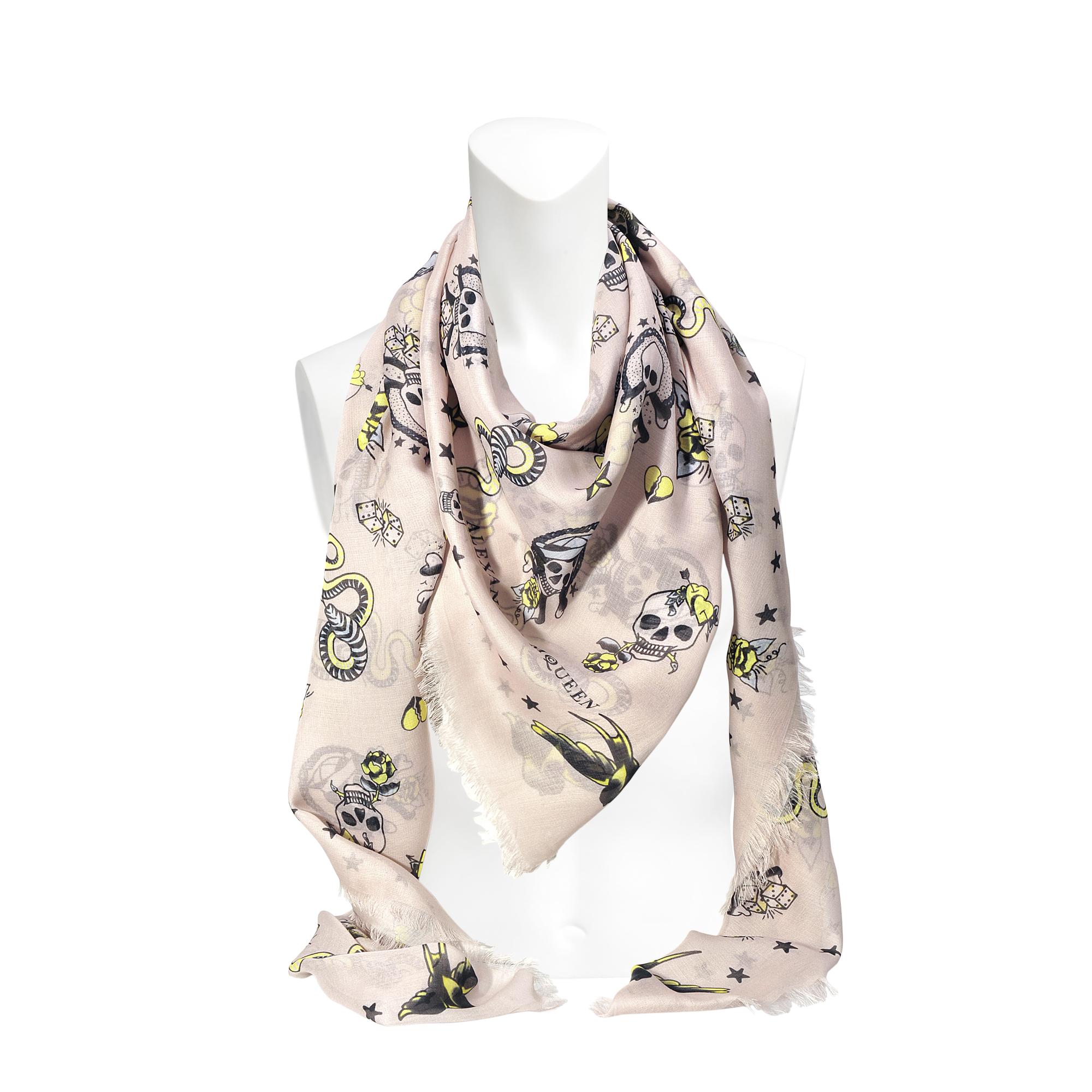 lyst ferrari black scarf tiger multi print danao in franco accessories