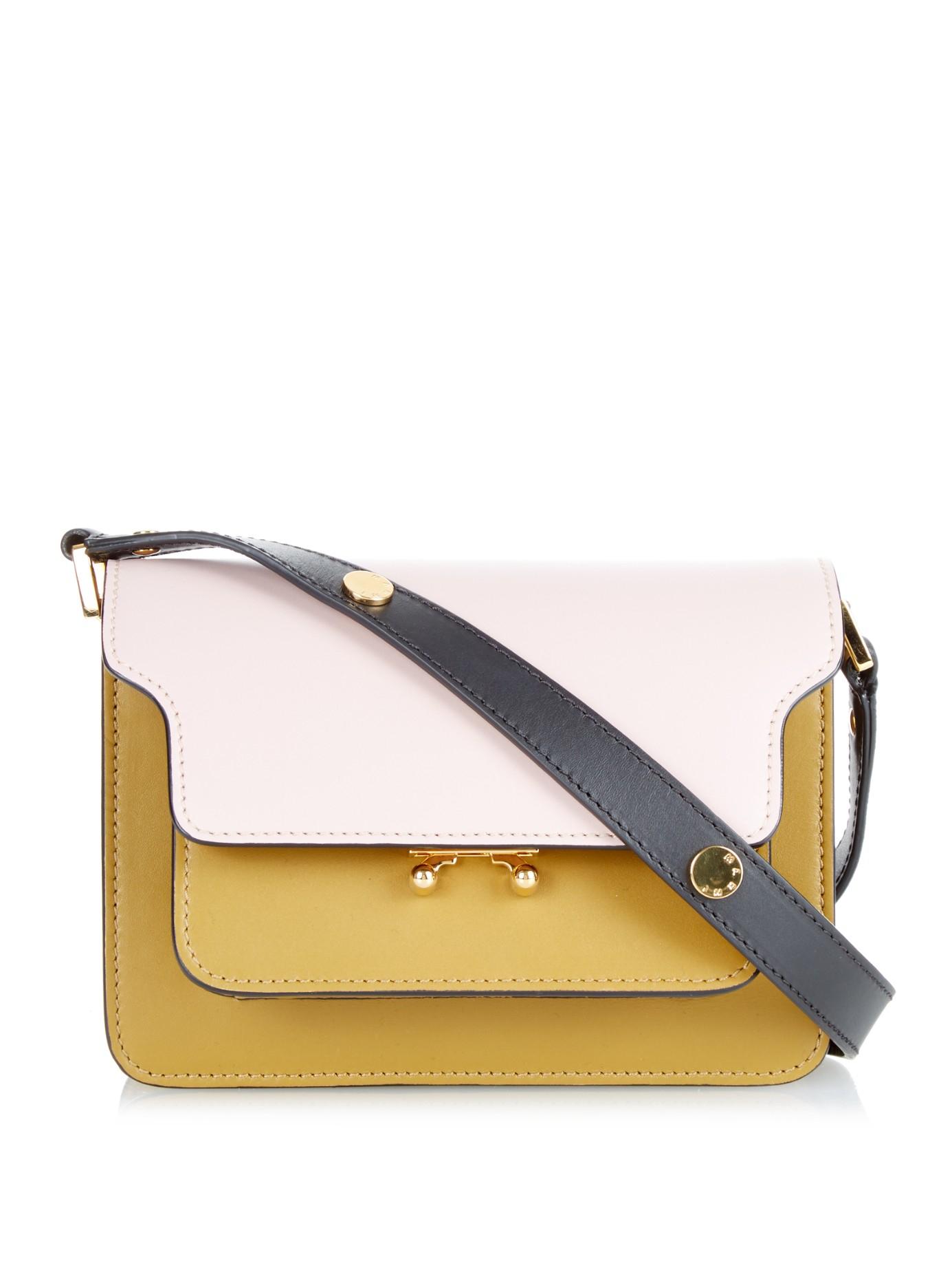 Lyst - Marni Trunk Mini Leather Shoulder Bag in Pink ca531104eb12c