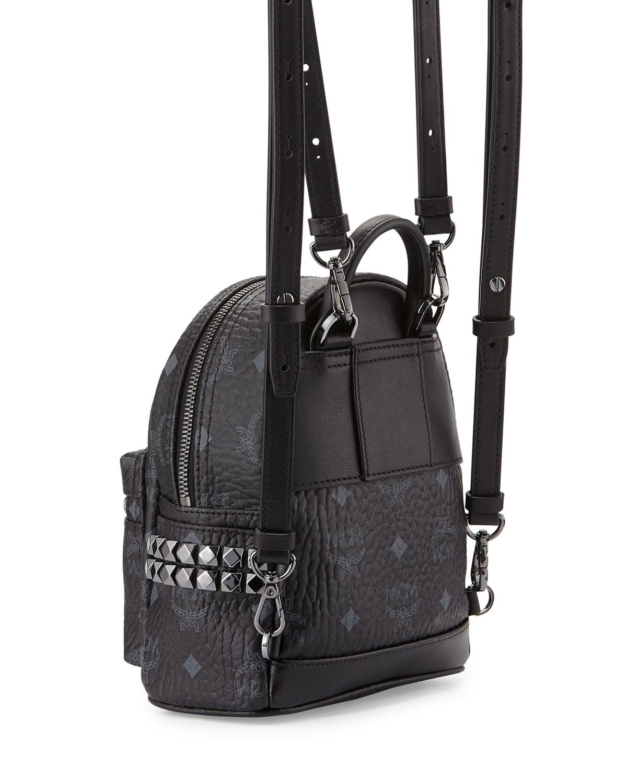 6d54598dff6d Lyst - MCM Stark X-mini Side Stud Backpack in Black