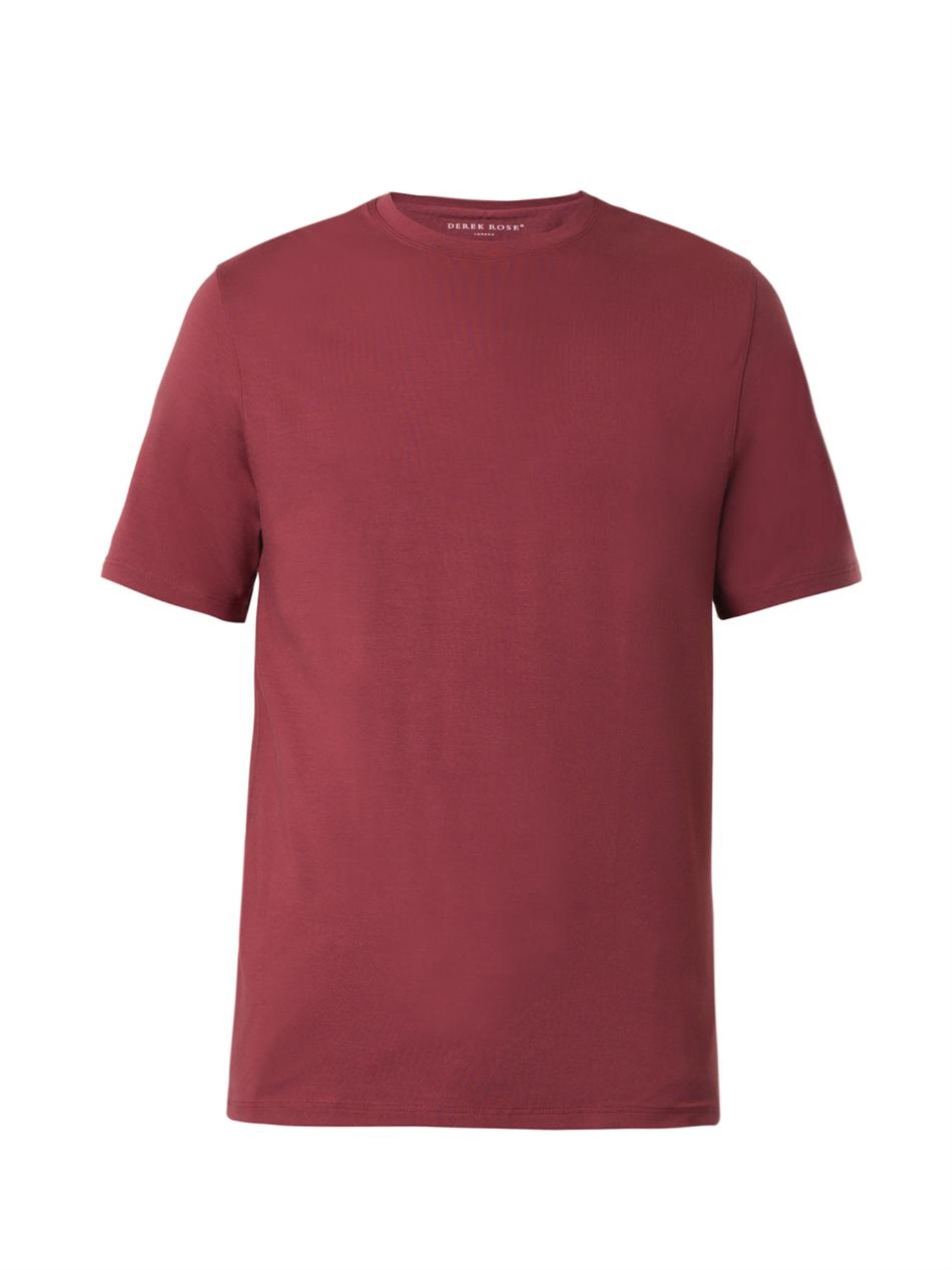 Lyst Derek Rose Basel Crew Neck T Shirt In Purple For Men