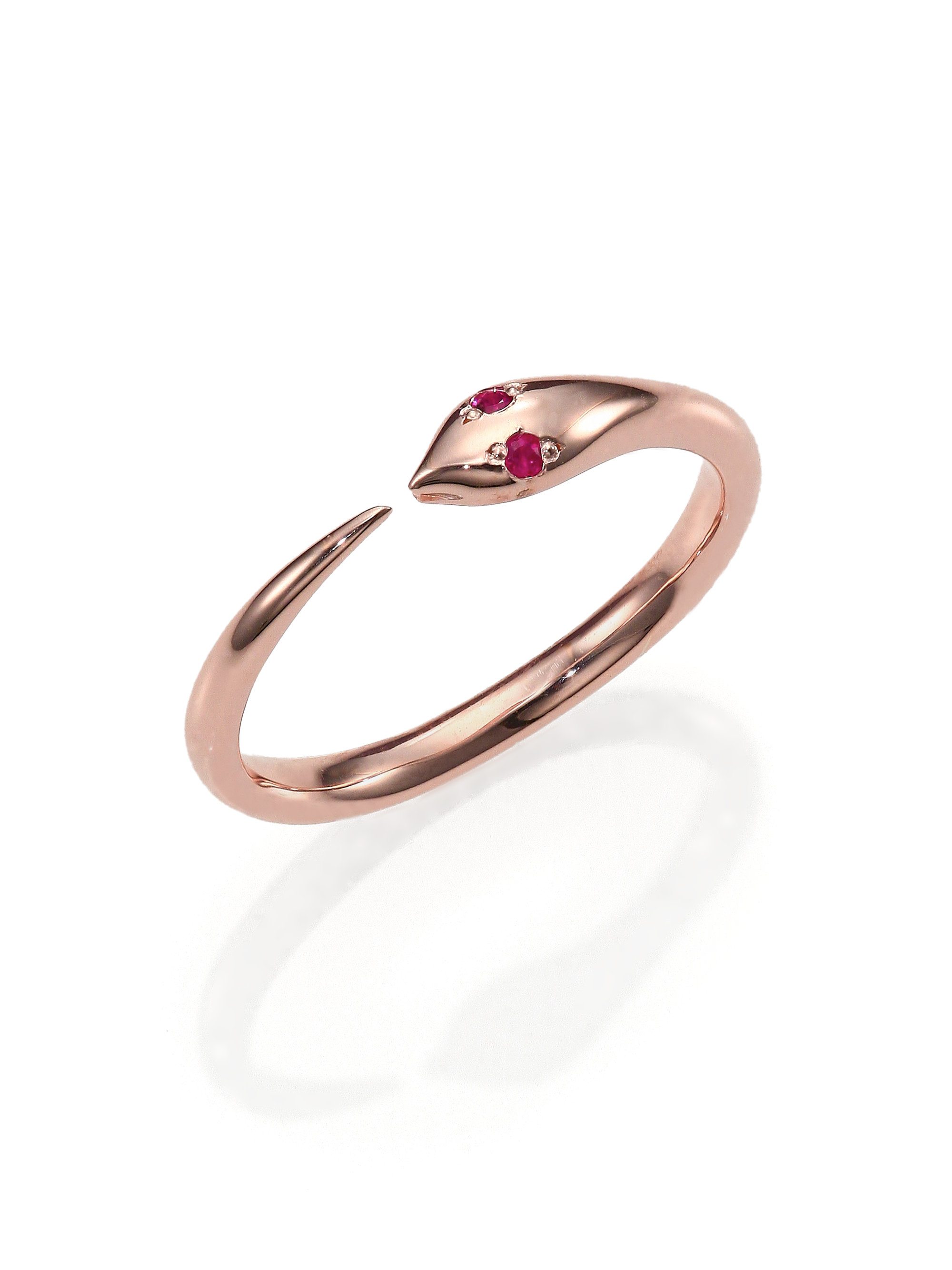 jewelry rose gold engagement normal in arty ny lyst rings product ring diamond pink ginette gallery straw mini