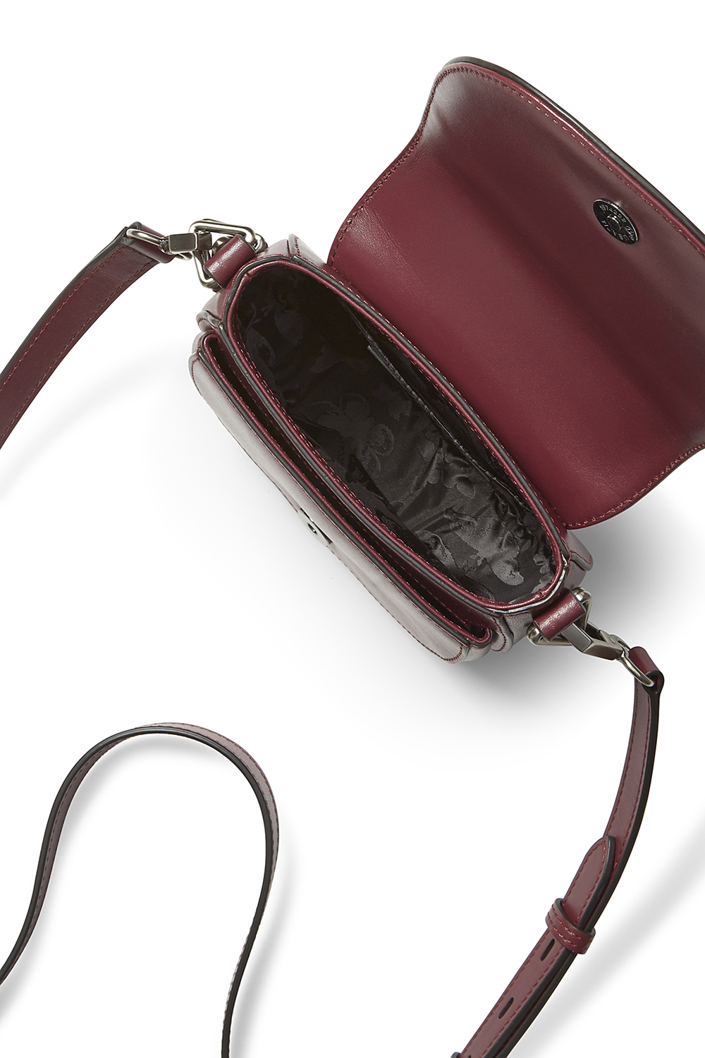Rebecca Minkoff Small Astor Saddle Bag in Red