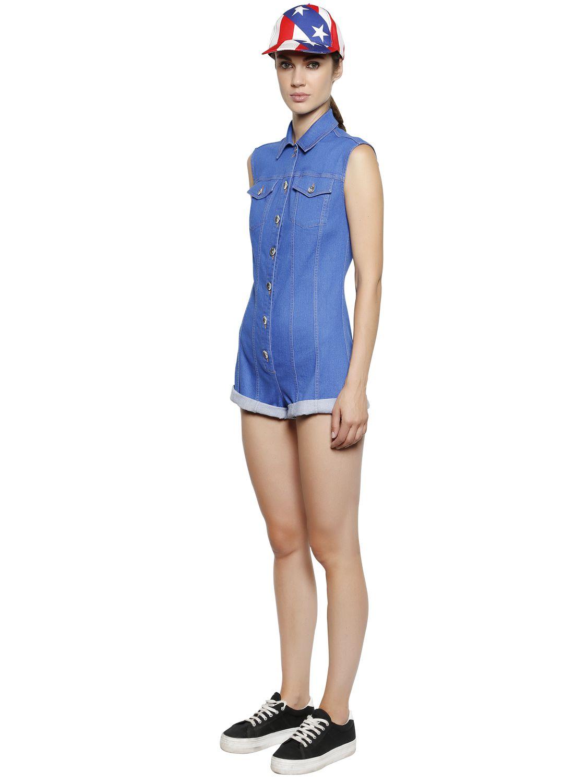 Cheap Sale Geniue Stockist denim jumpsuit Moschino Limited Edition Online Sale Discount 0j6PA