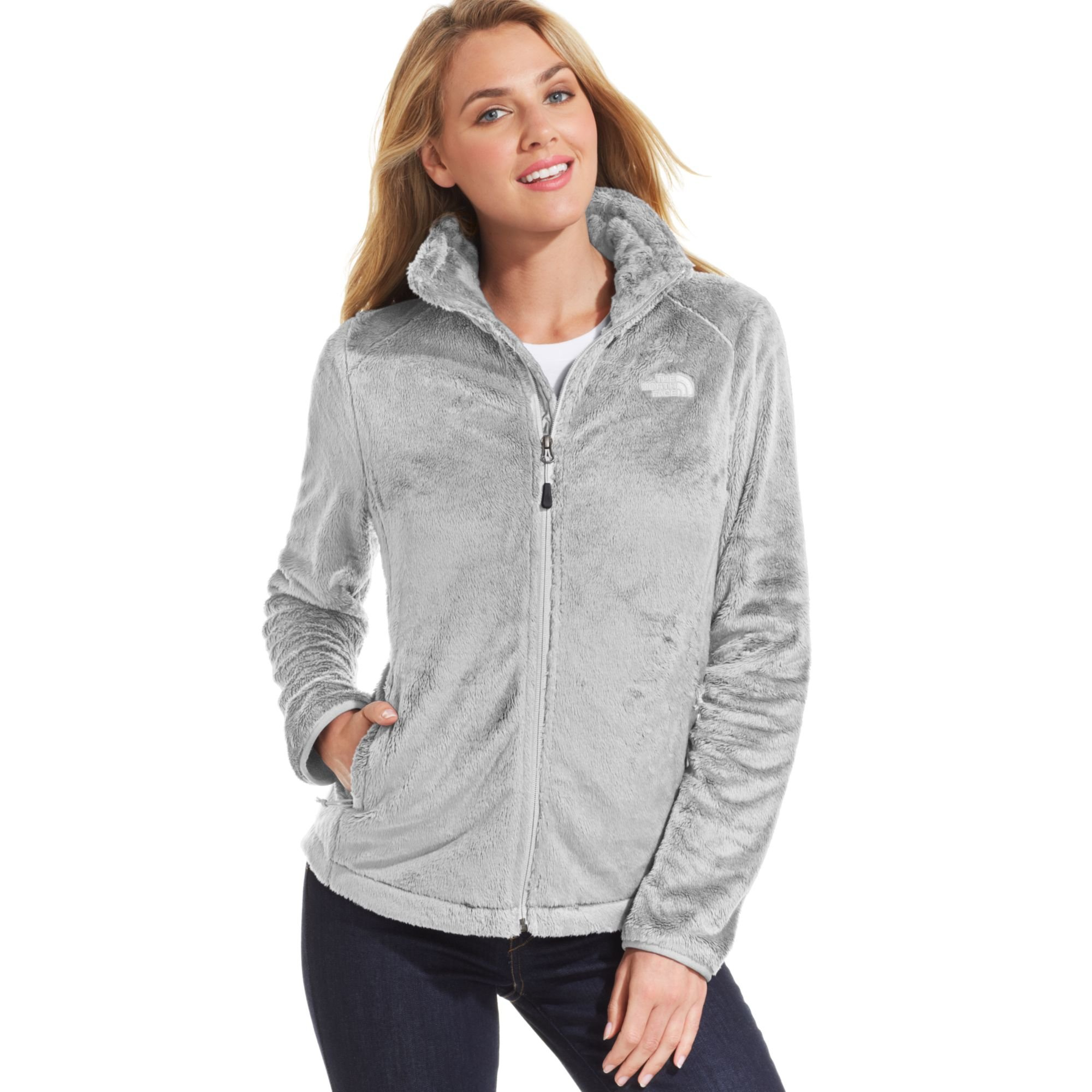 The North Face Osito 2 Fleece Jacket In Gray High Rise