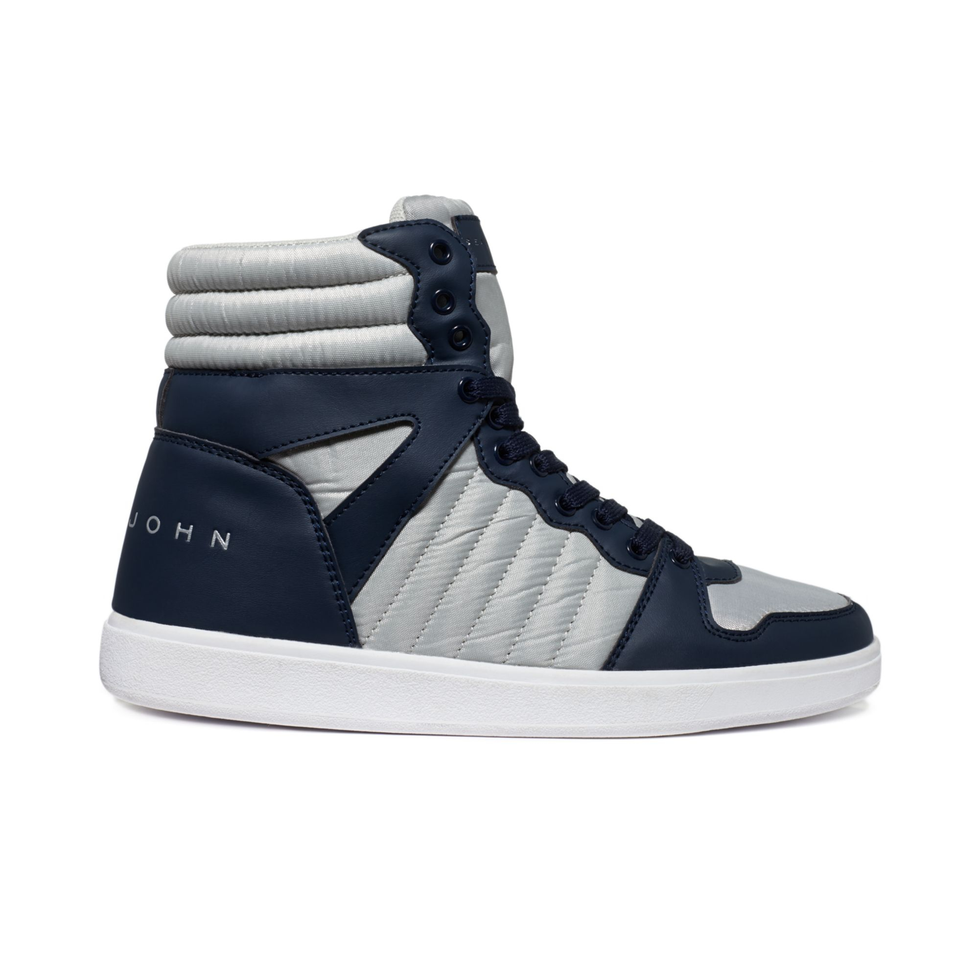 Sean John Murano Hi Top Sneakers In Blue For Men Navy