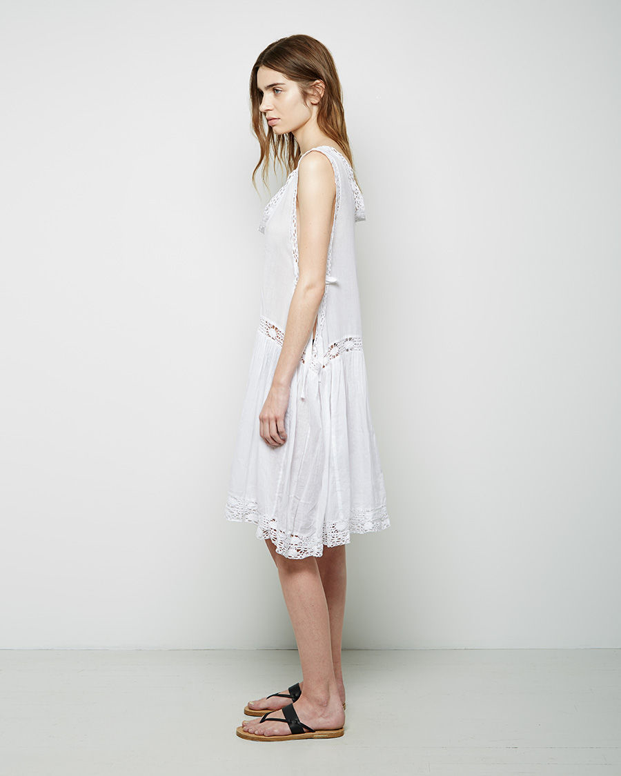 lyst toile isabel marant dixie dress in white. Black Bedroom Furniture Sets. Home Design Ideas