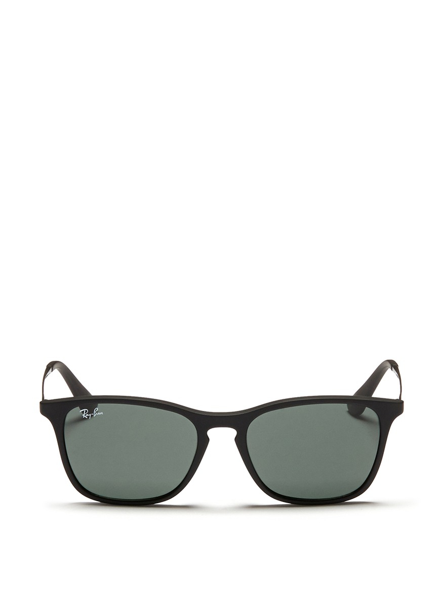 1b4cf568919 Lyst - Ray-Ban  Chris Junior  Acetate Frame Wire Temple Sunglasses ...