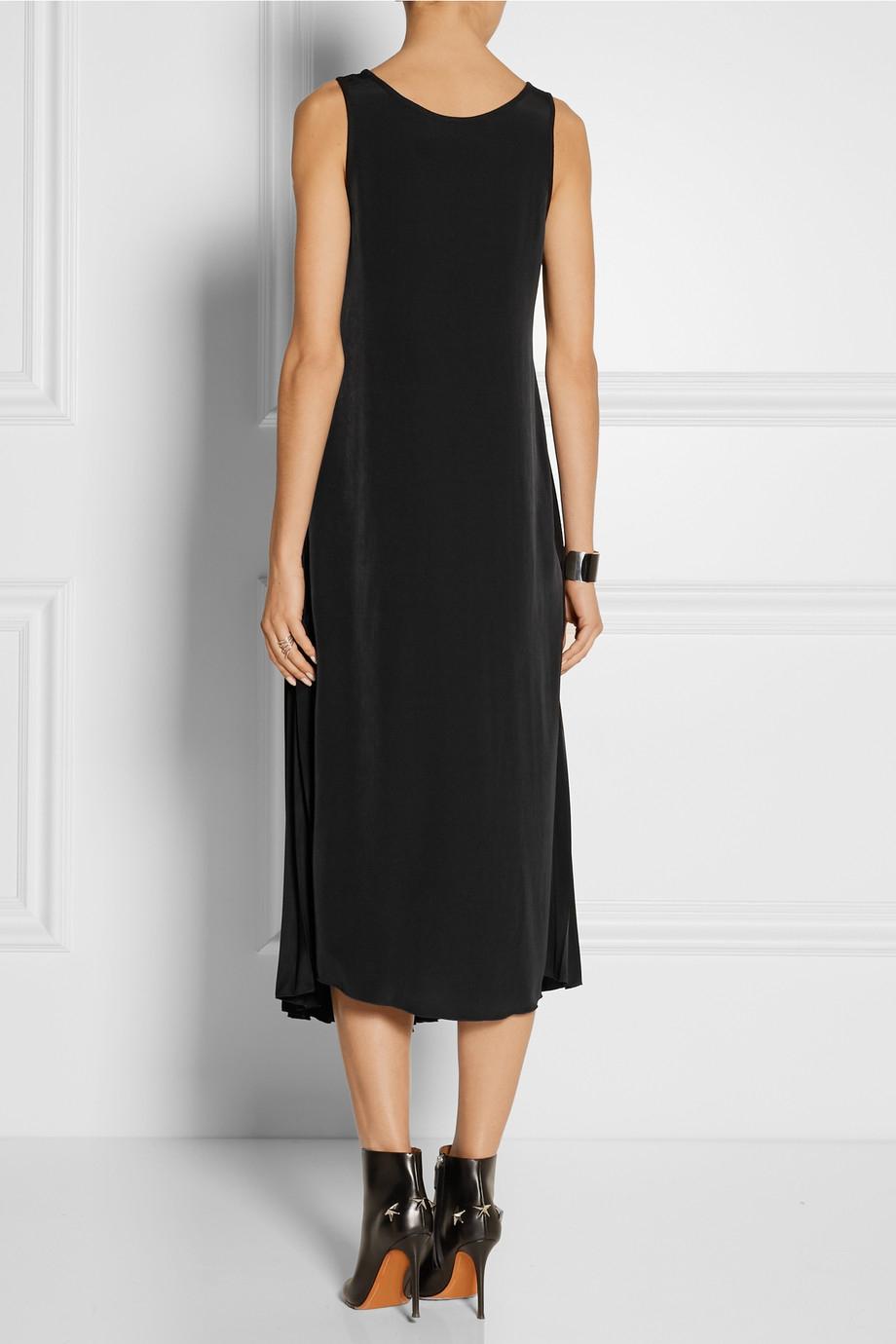 One-shoulder Crepe De Chine Midi Dress - Black Maison Martin Margiela Clearance Low Price ICcRIQbXd