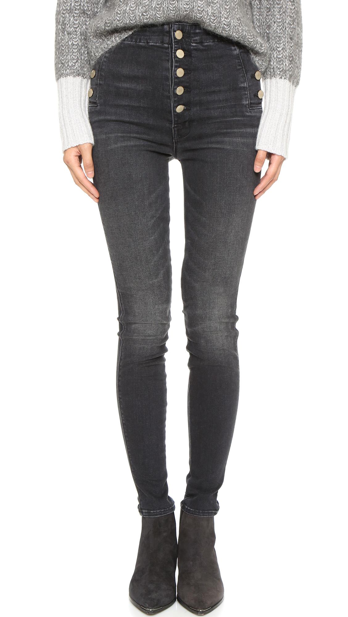 8c8a913c6db Lyst - J Brand Natasha Sky High Skinny Jeans in Gray