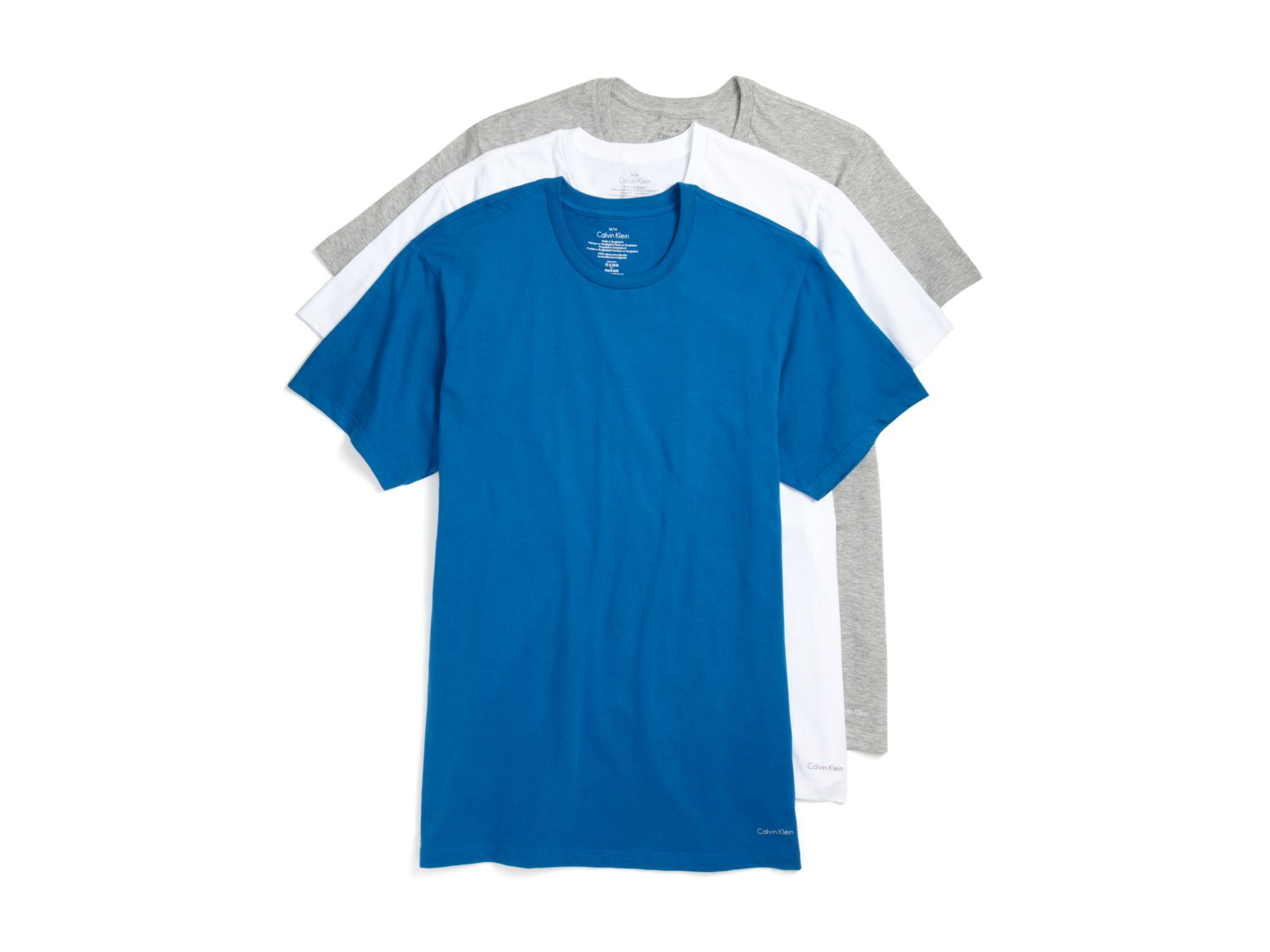Lyst calvin klein classic crewneck tee pack of 3 for men gallery malvernweather Gallery