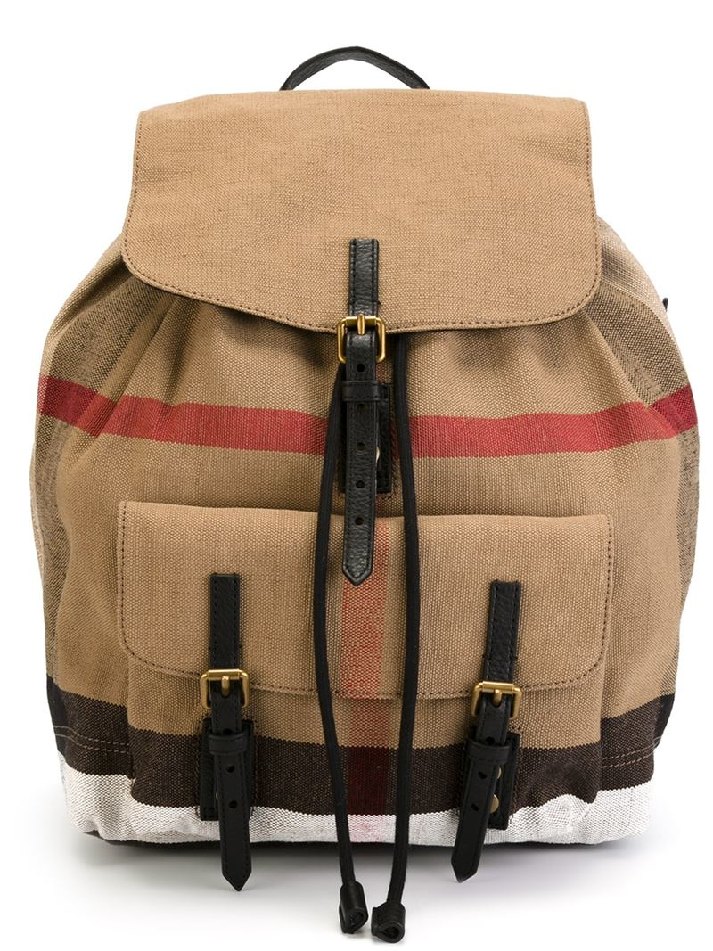 Burberry 'nova Check' Backpack in Brown | Lyst