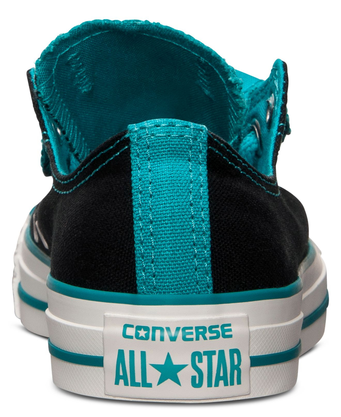 Lyst - Converse Women S Chuck Taylor All Star Double Tongue Casual Sneakers  From Finish Line in Black 85d0dd199