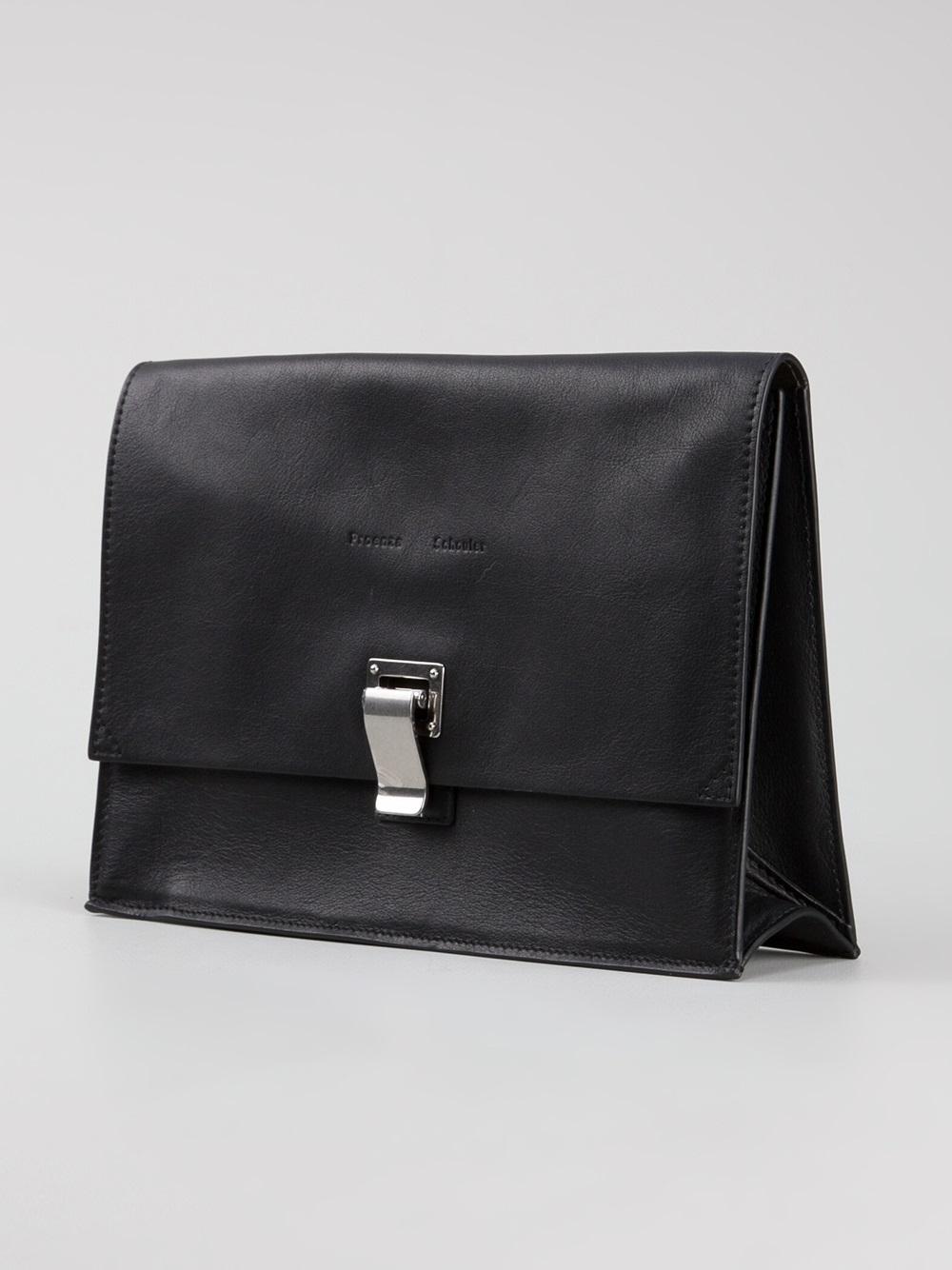 proenza schouler small lunch bag clutch in black lyst