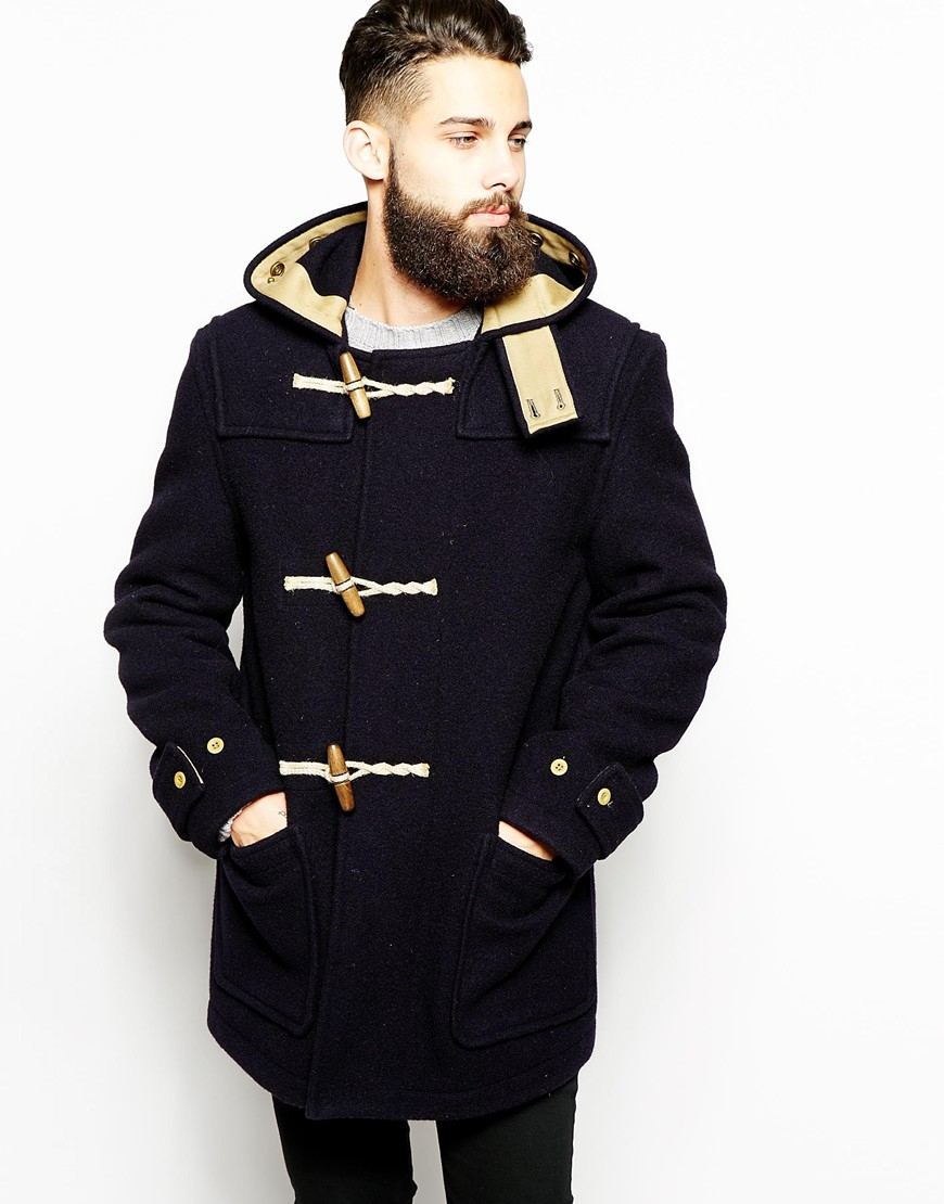 Gloverall Duffle Coat In Boiled Wool in Blue for Men | Lyst