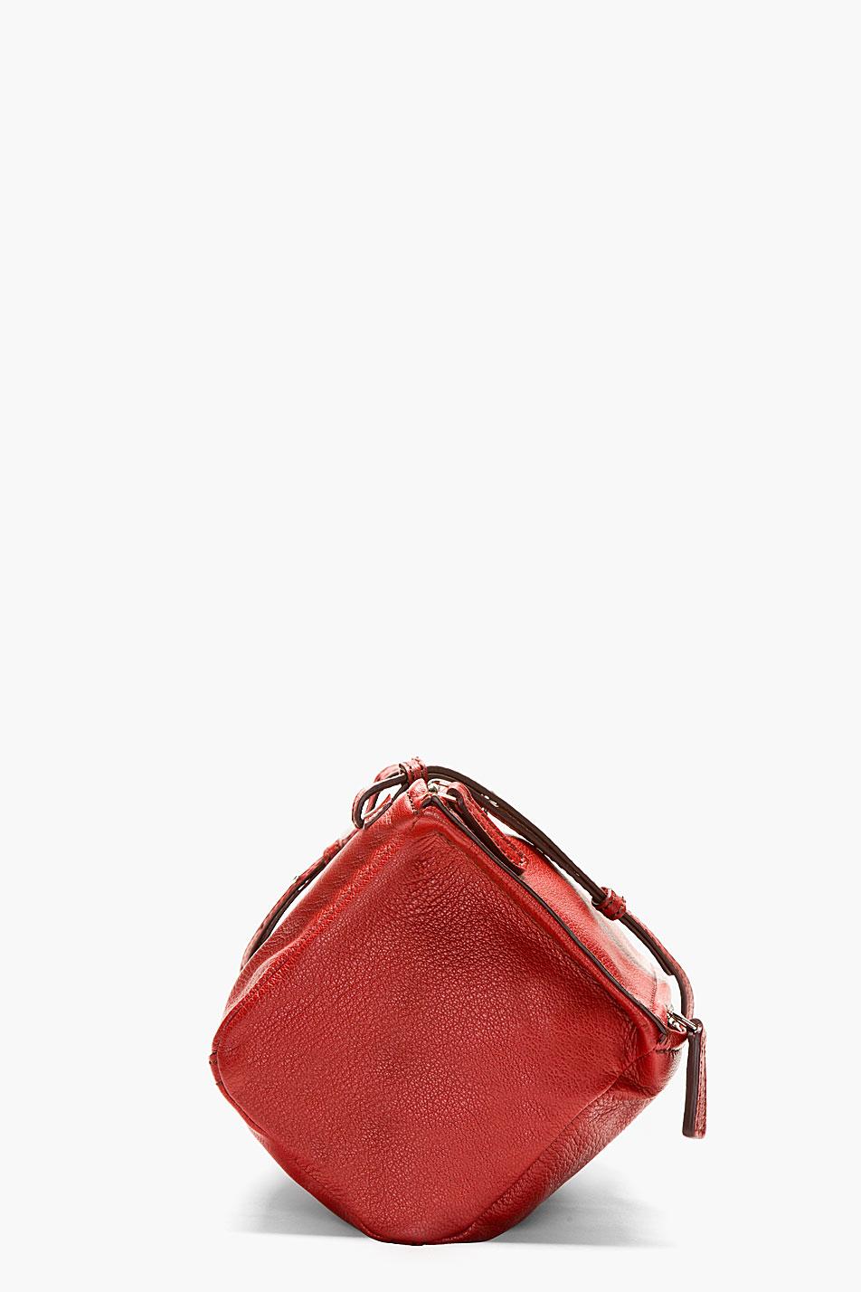 2b1f0d2965d Lyst - Givenchy Red Goatskin Pandora Sugar Mini Shoulder Bag in Red