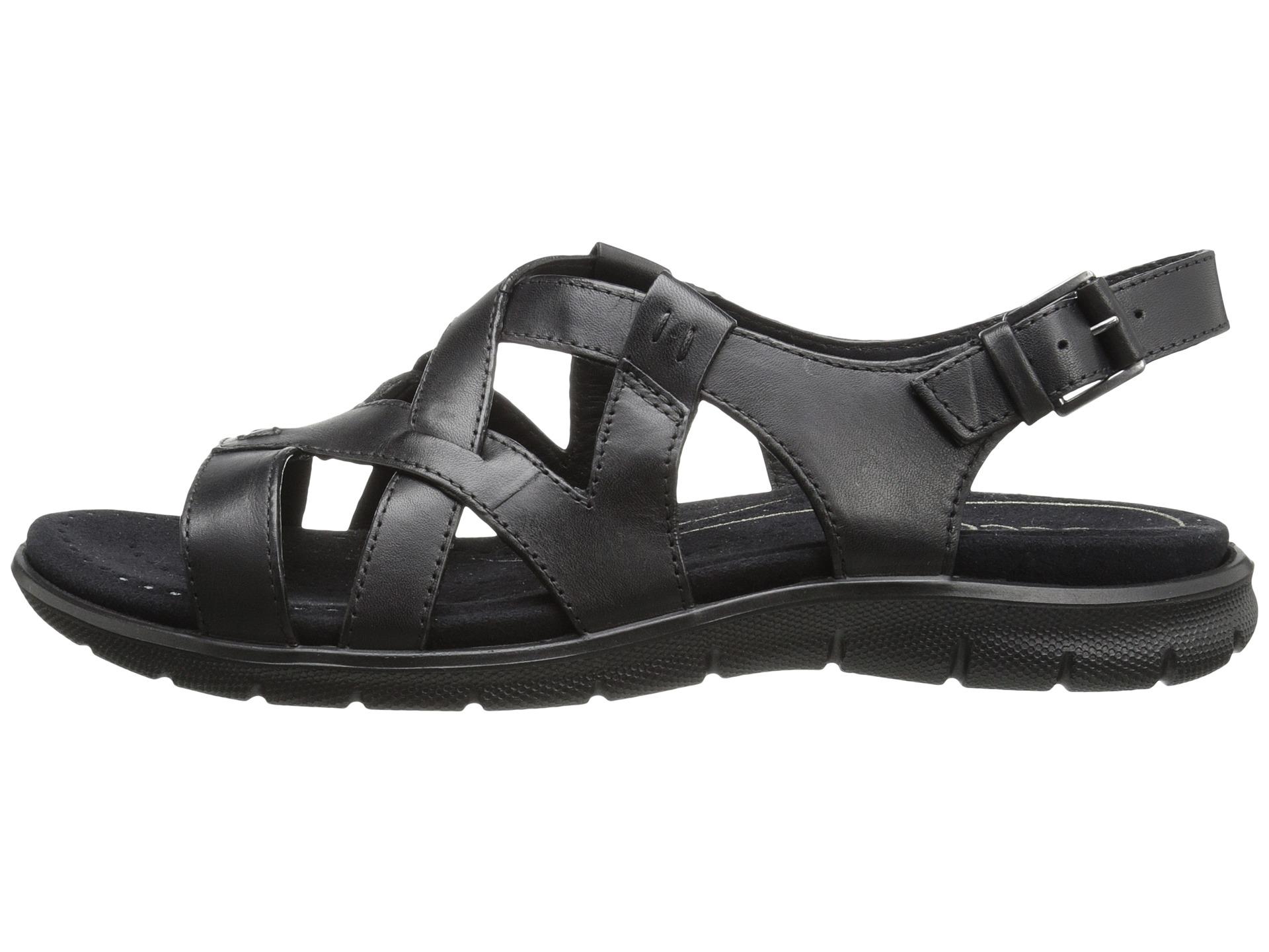 e78f9afaf173 Lyst - Ecco Babett Sandal Cross Strap in Black