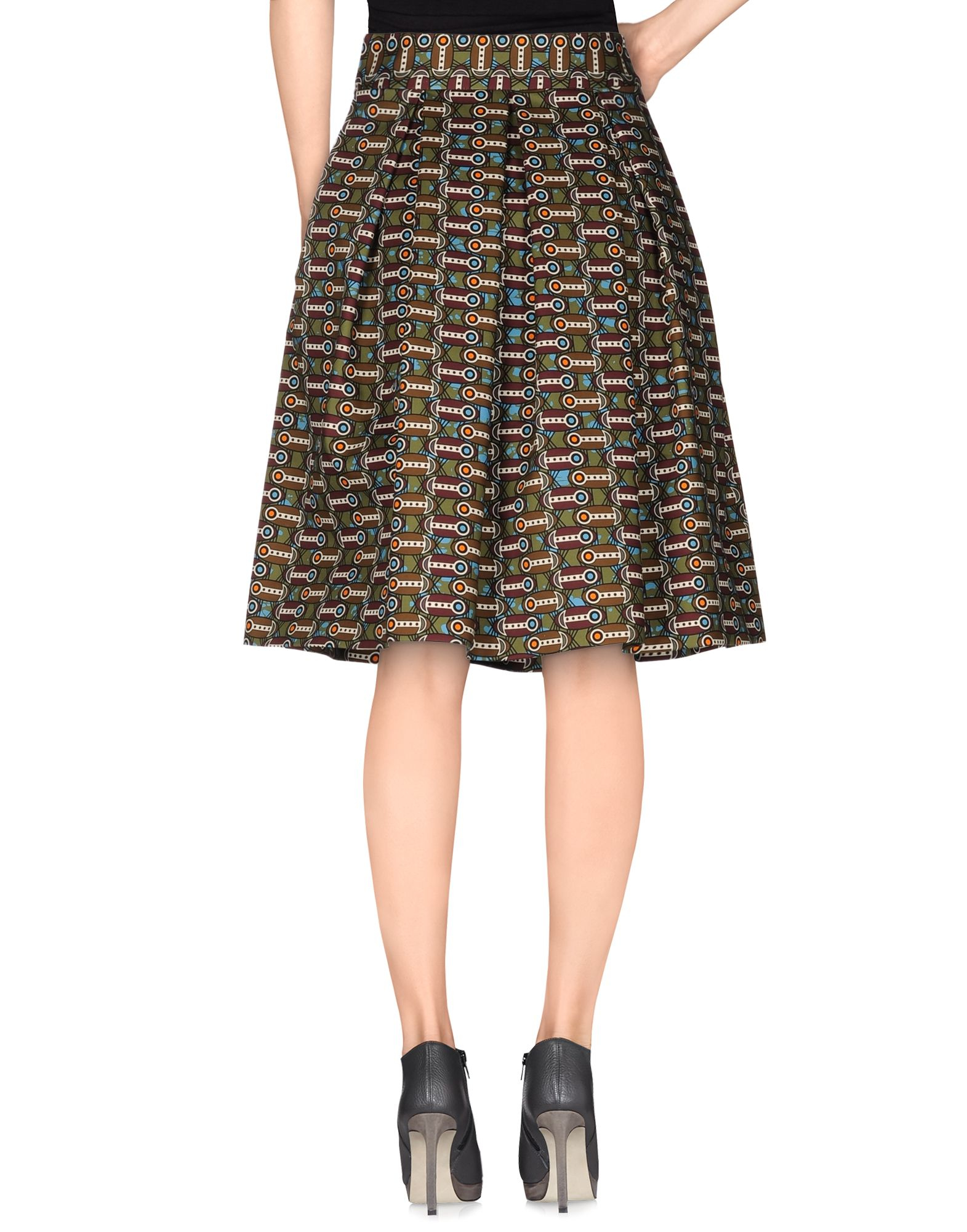 stella jean knee length skirt in green green lyst