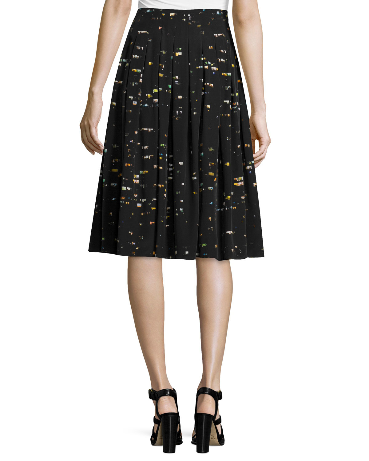 risto pleated a line skirt in black lyst