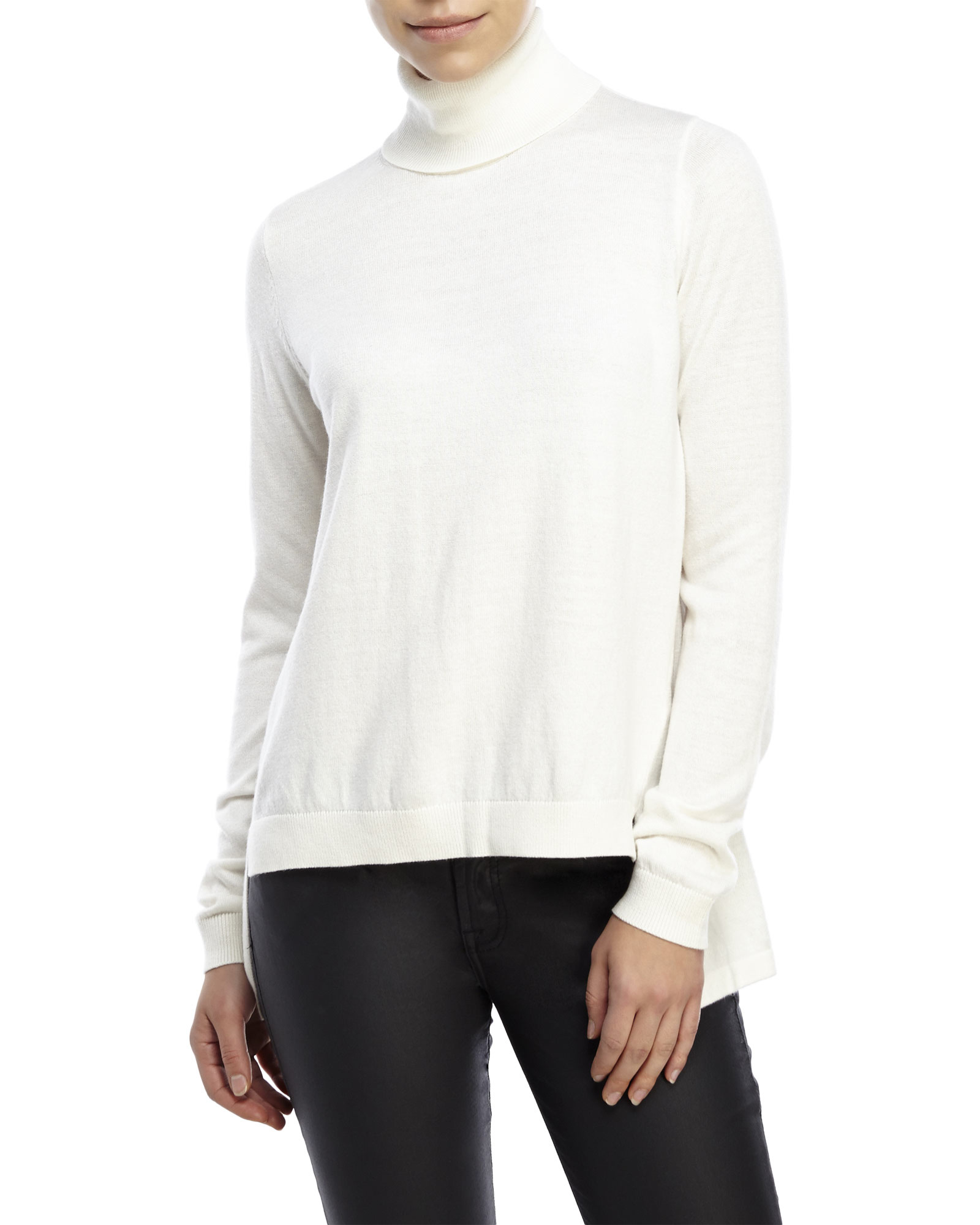 French connection Bambino Knit Turtleneck Sweater in White   Lyst