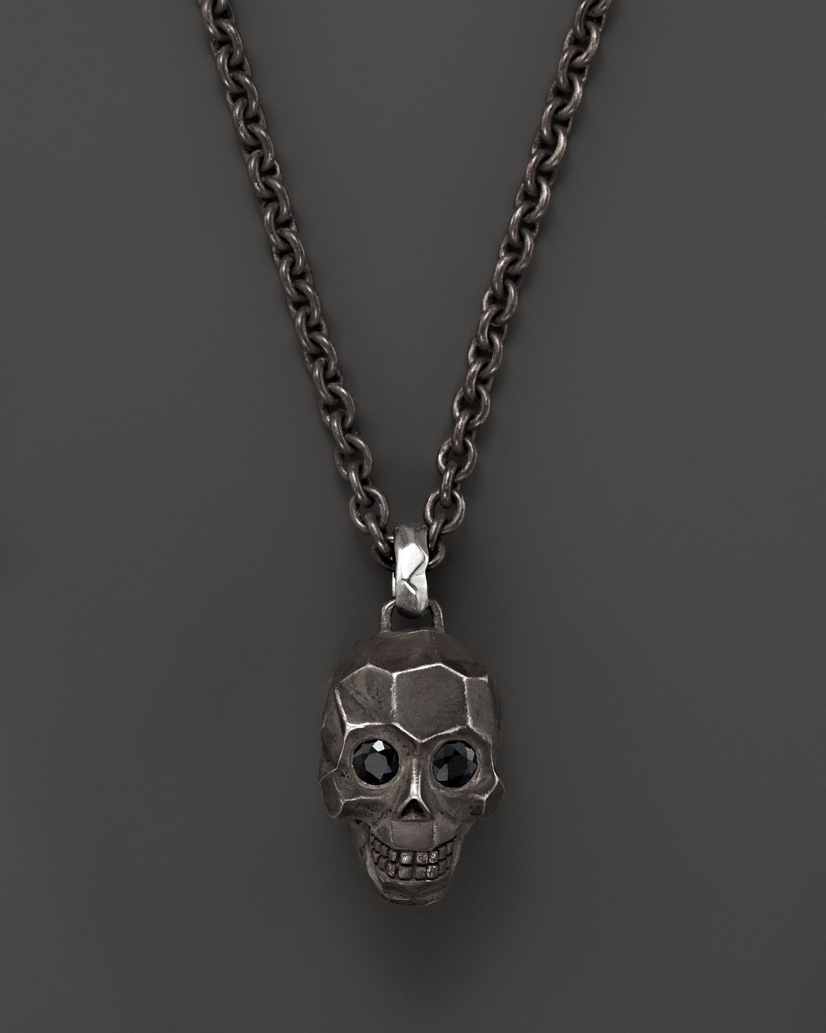 John Hardy Men S Classic Chain Silver Skull Enhancer Chain Necklace Wi