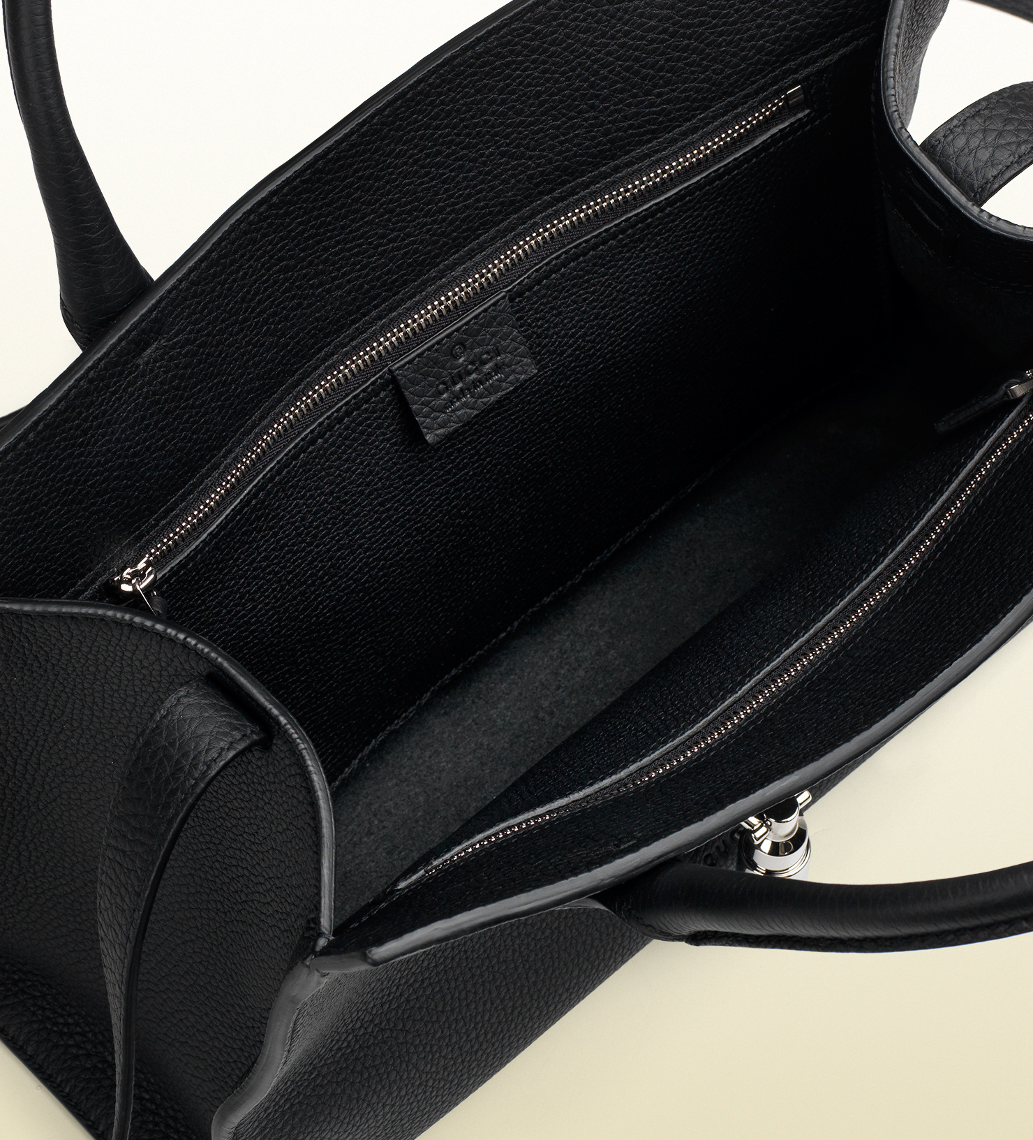 f241b23e89ed3e Gucci Jackie Soft Leather Top Handle Bag in Black - Lyst