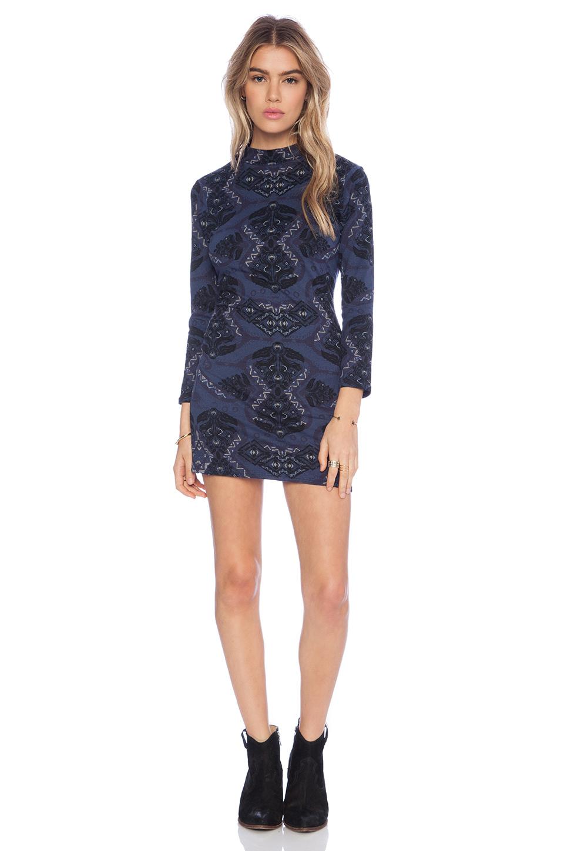 Free people Cute N Cozy Bodycon Dress in Blue | Lyst