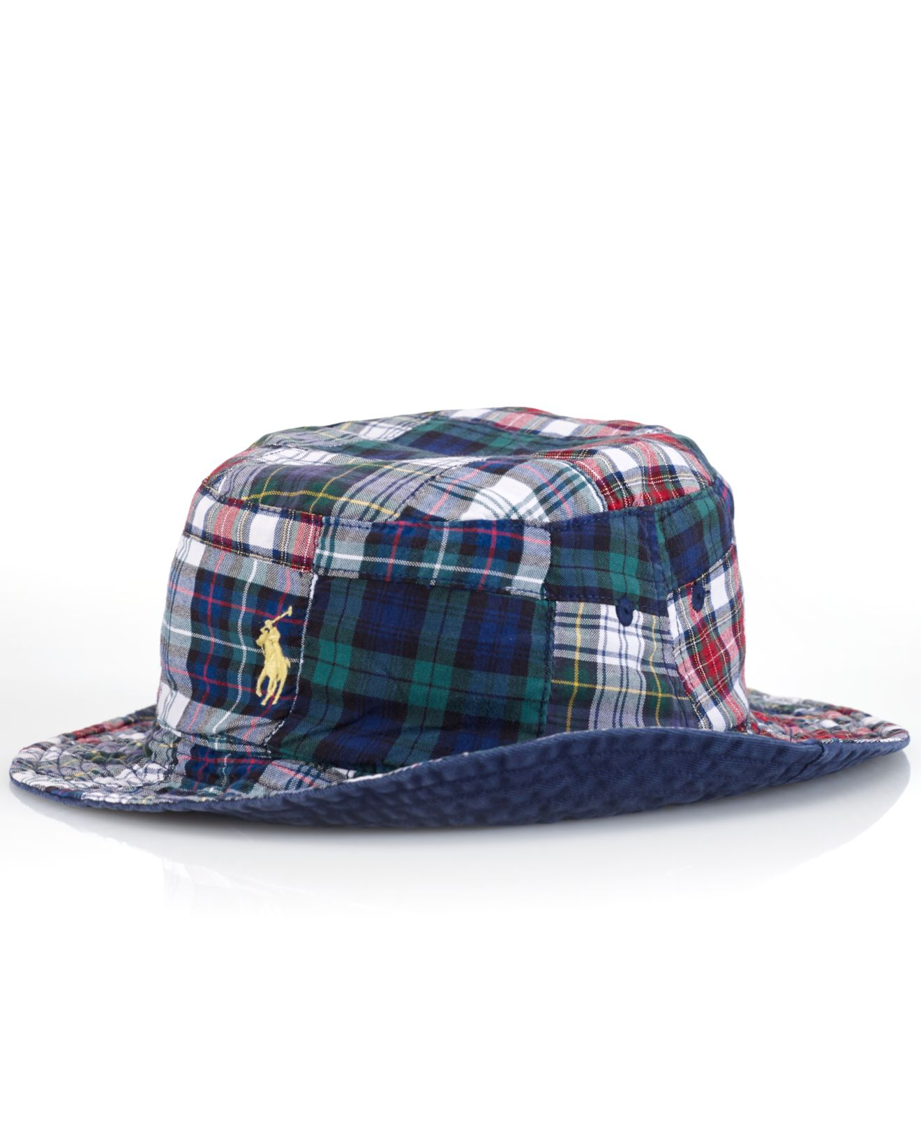 Lyst - Polo Ralph Lauren Reversible Plaid Bucket Hat in Blue for Men 435a2eff083