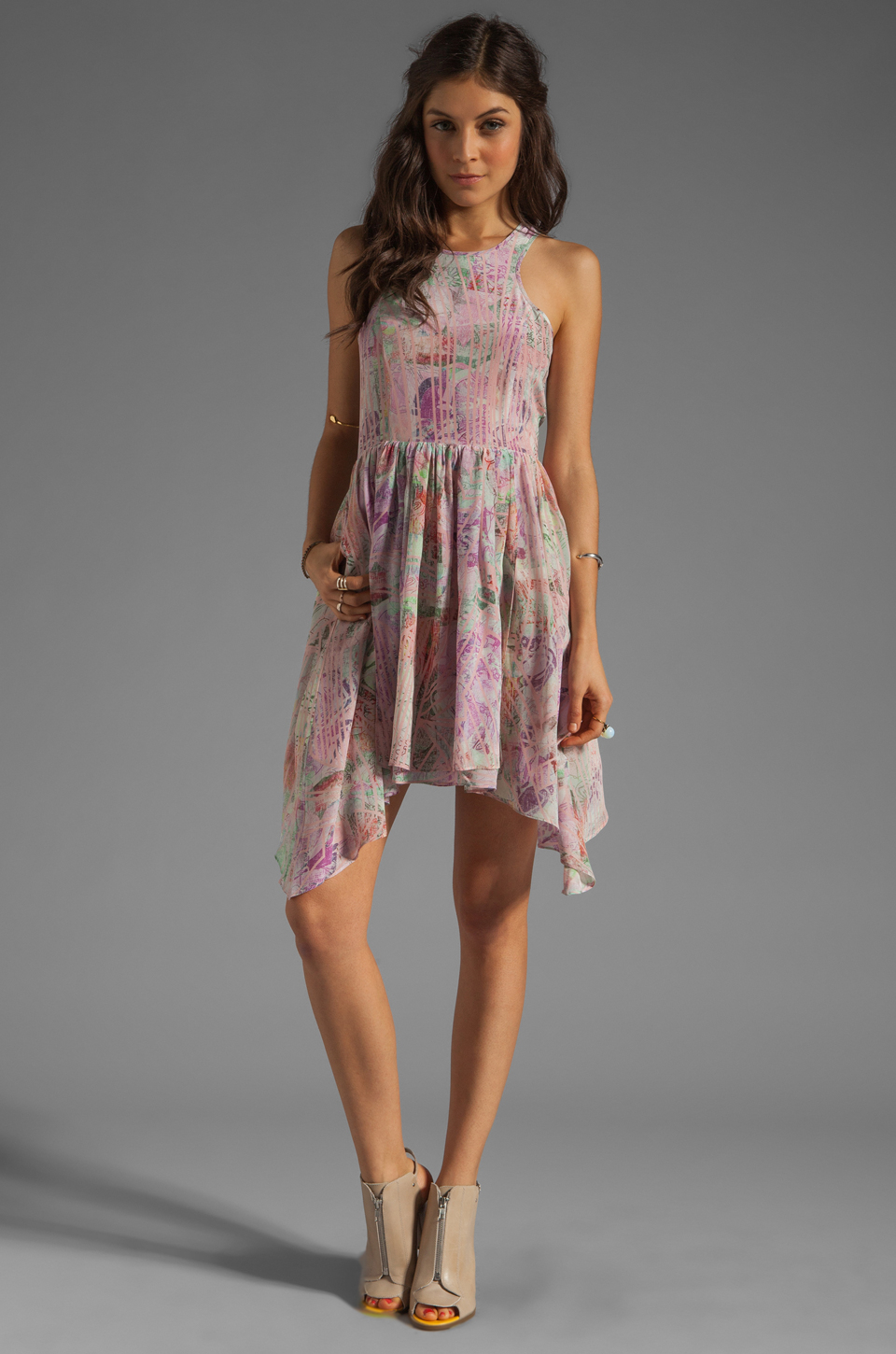 Lyst Talulah Moon Stars Dress In Pink Floral In Pink