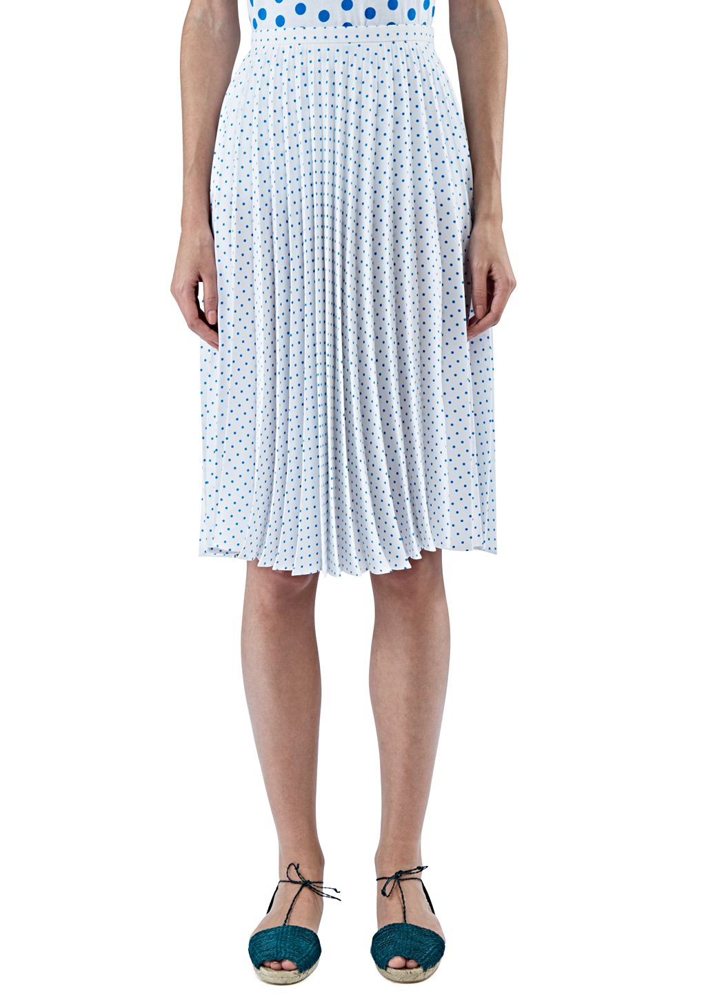 J.w.anderson Womenu0026#39;s Polka Dot Pleated Skirt In Blue And White in Blue - Save 70% | Lyst