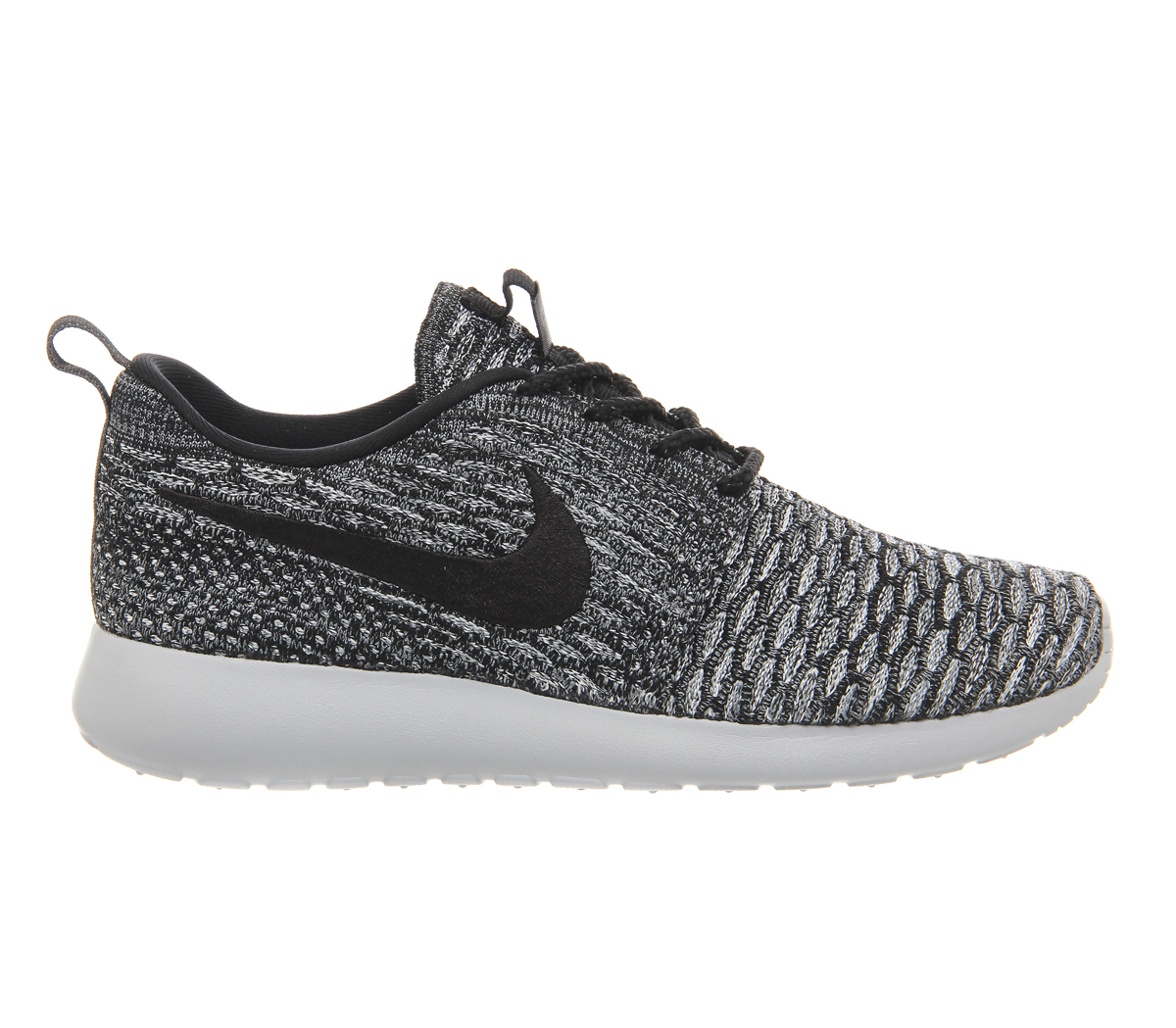 nike roshe run flyknit w in gray lyst. Black Bedroom Furniture Sets. Home Design Ideas