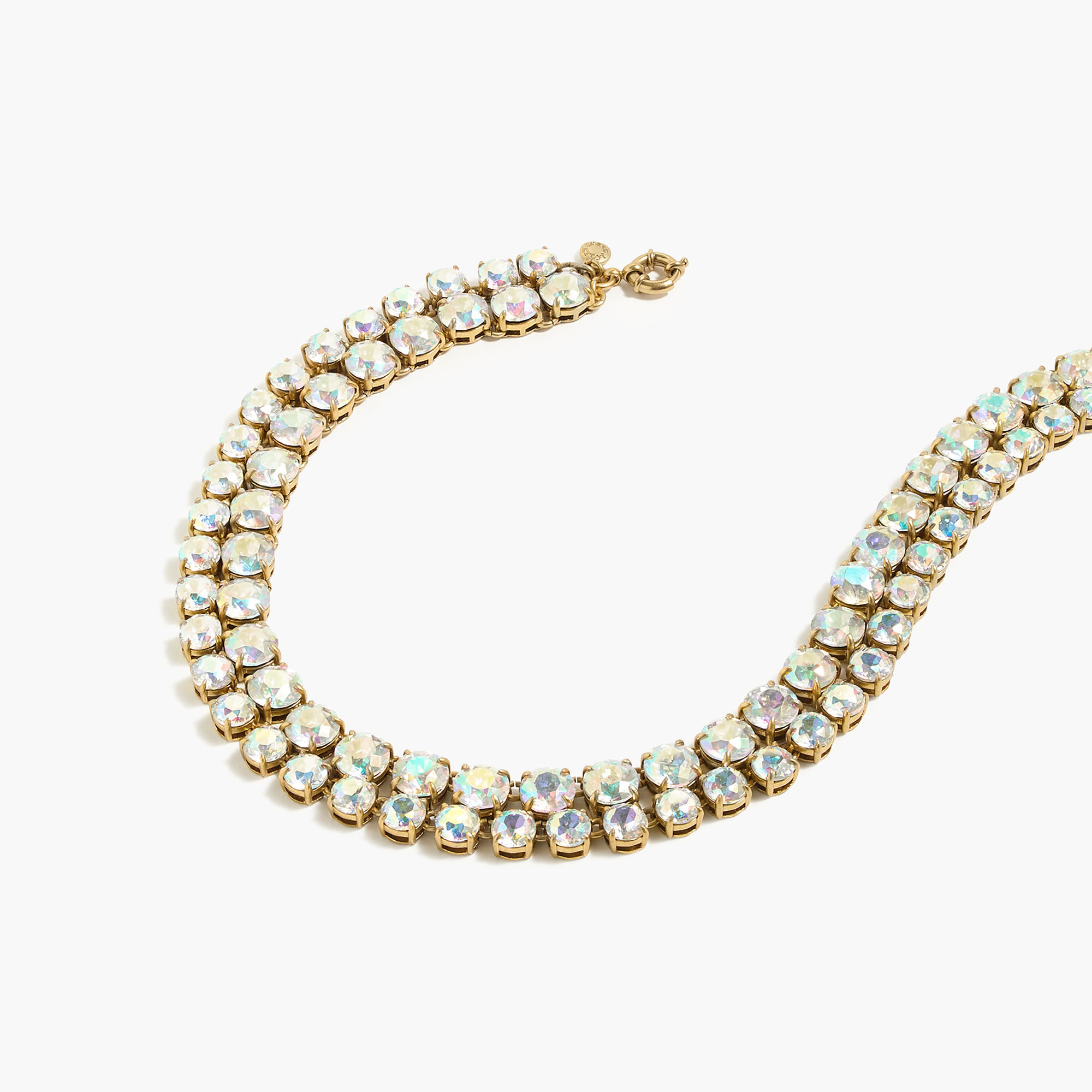 Layered crystal necklace in metallic lyst for J crew jewelry 2015